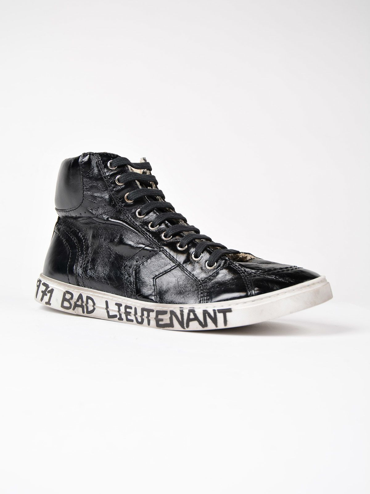 saint laurent saint laurent bad lieutenant hi top sneakers black men 39 s sneakers italist. Black Bedroom Furniture Sets. Home Design Ideas