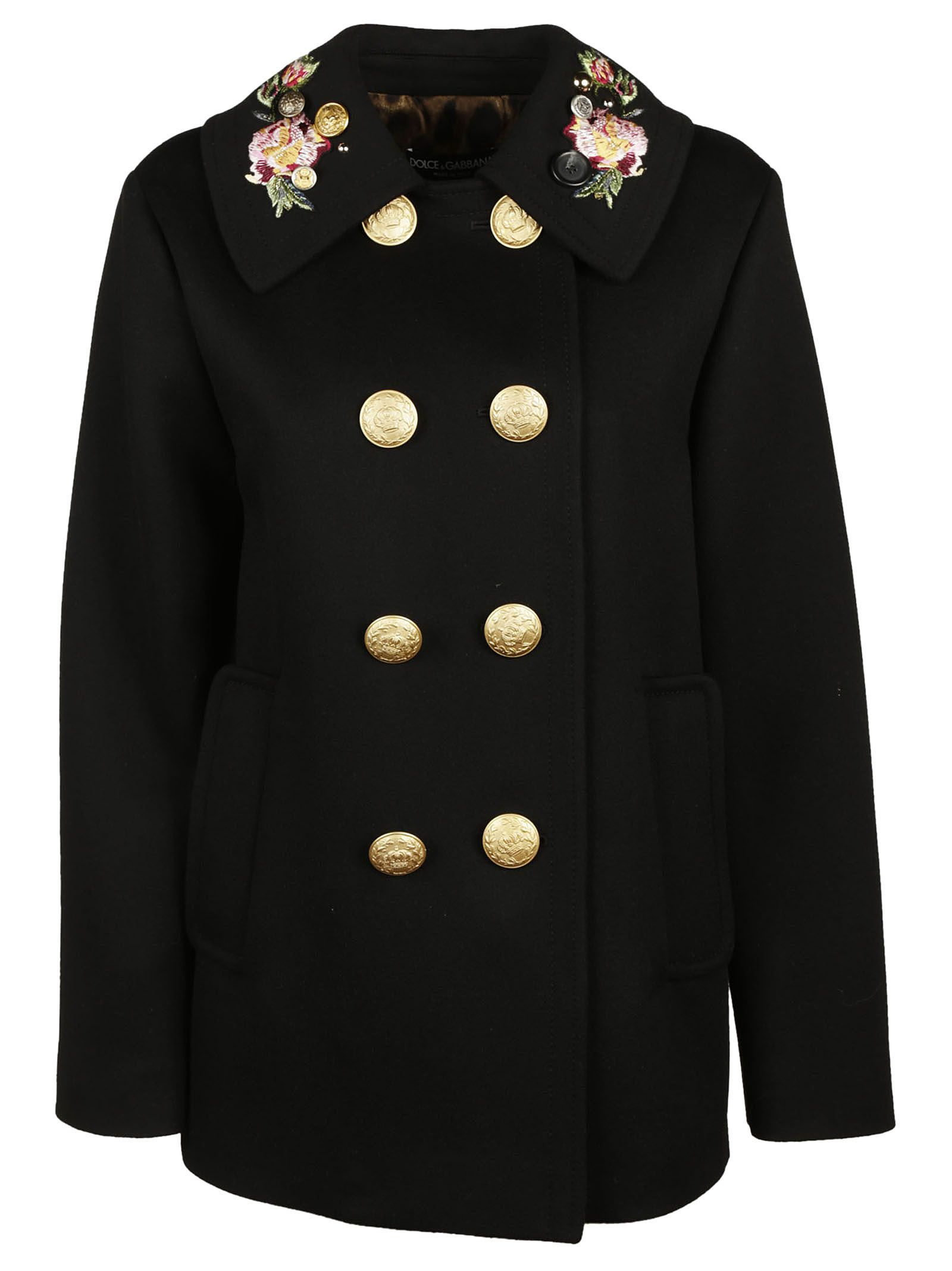 Dolce & Gabbana Double Breasted Military Coat