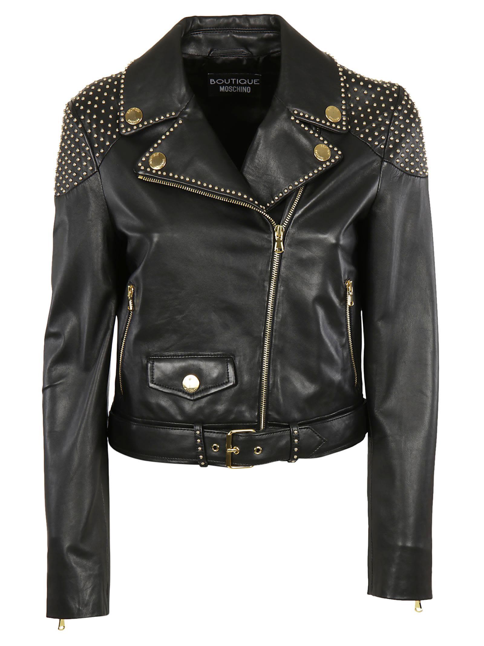 Boutique Moschino Stud Biker Jacket