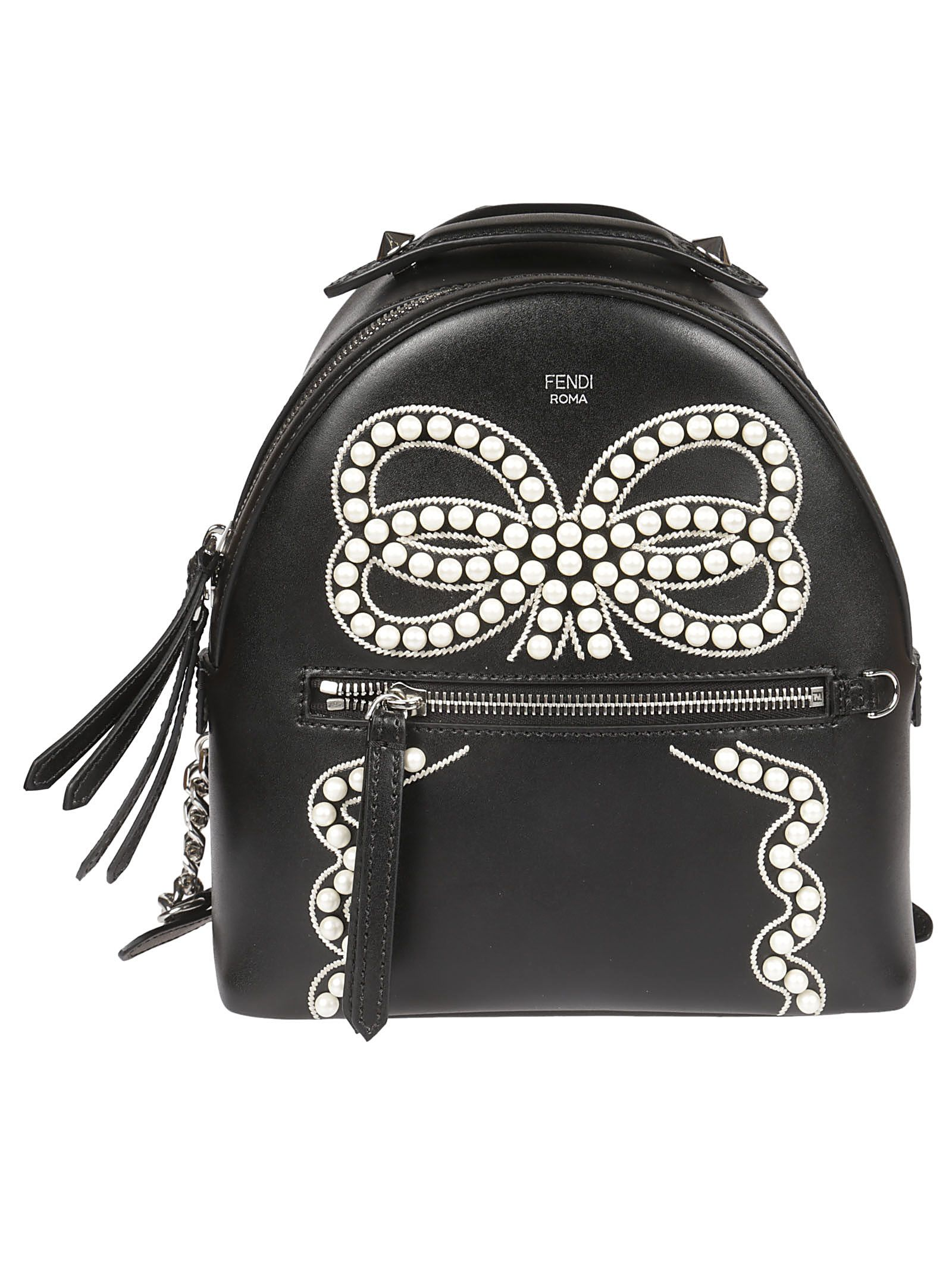Fendi Bow Detail Mini Backpack