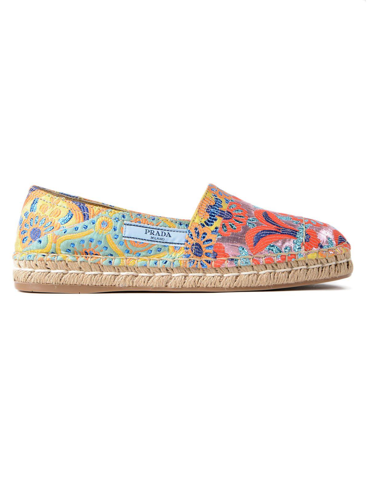 Prada Lurex Patch Slippers