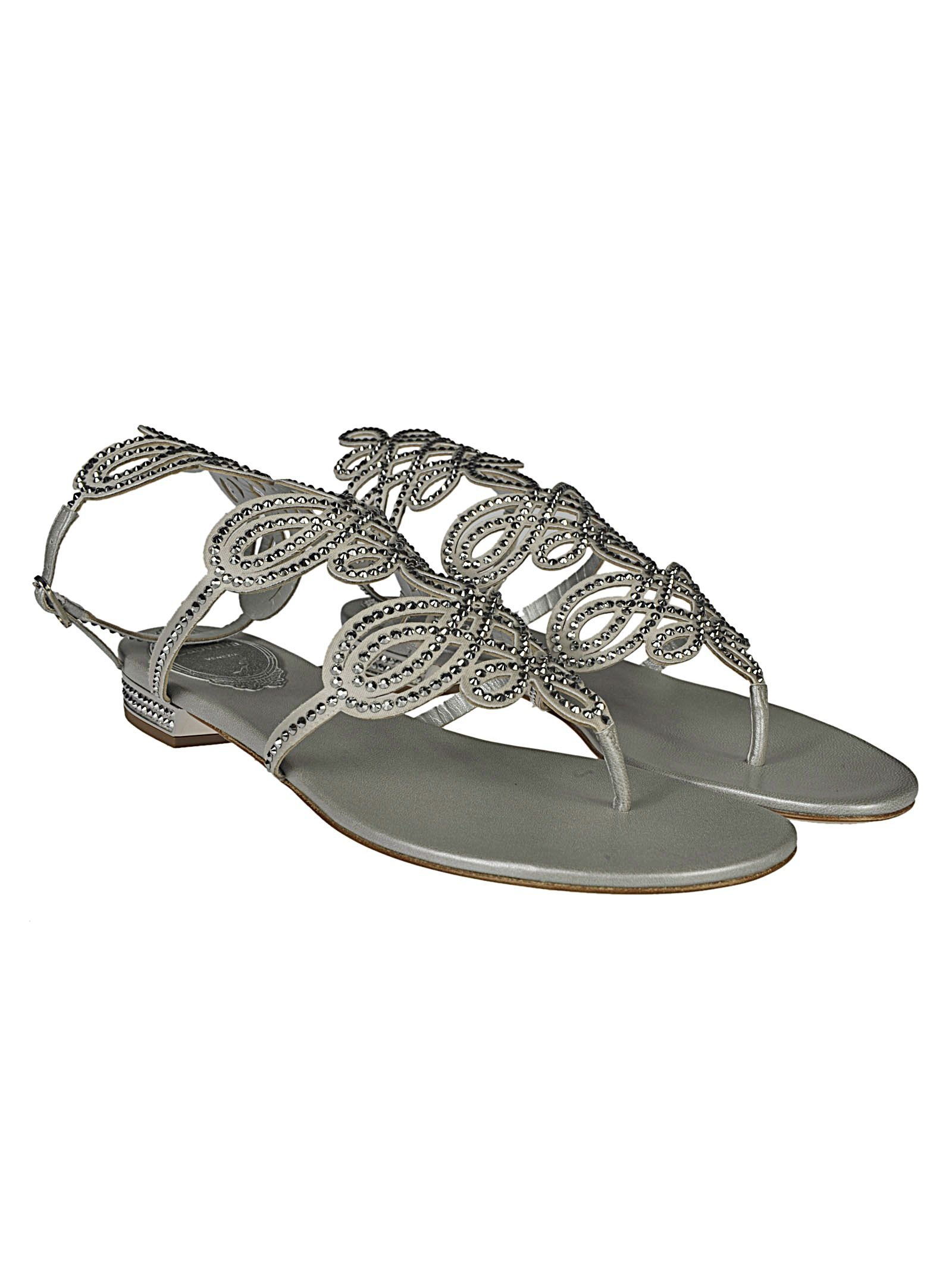 Rene Caovilla Thong Embellished Sandals