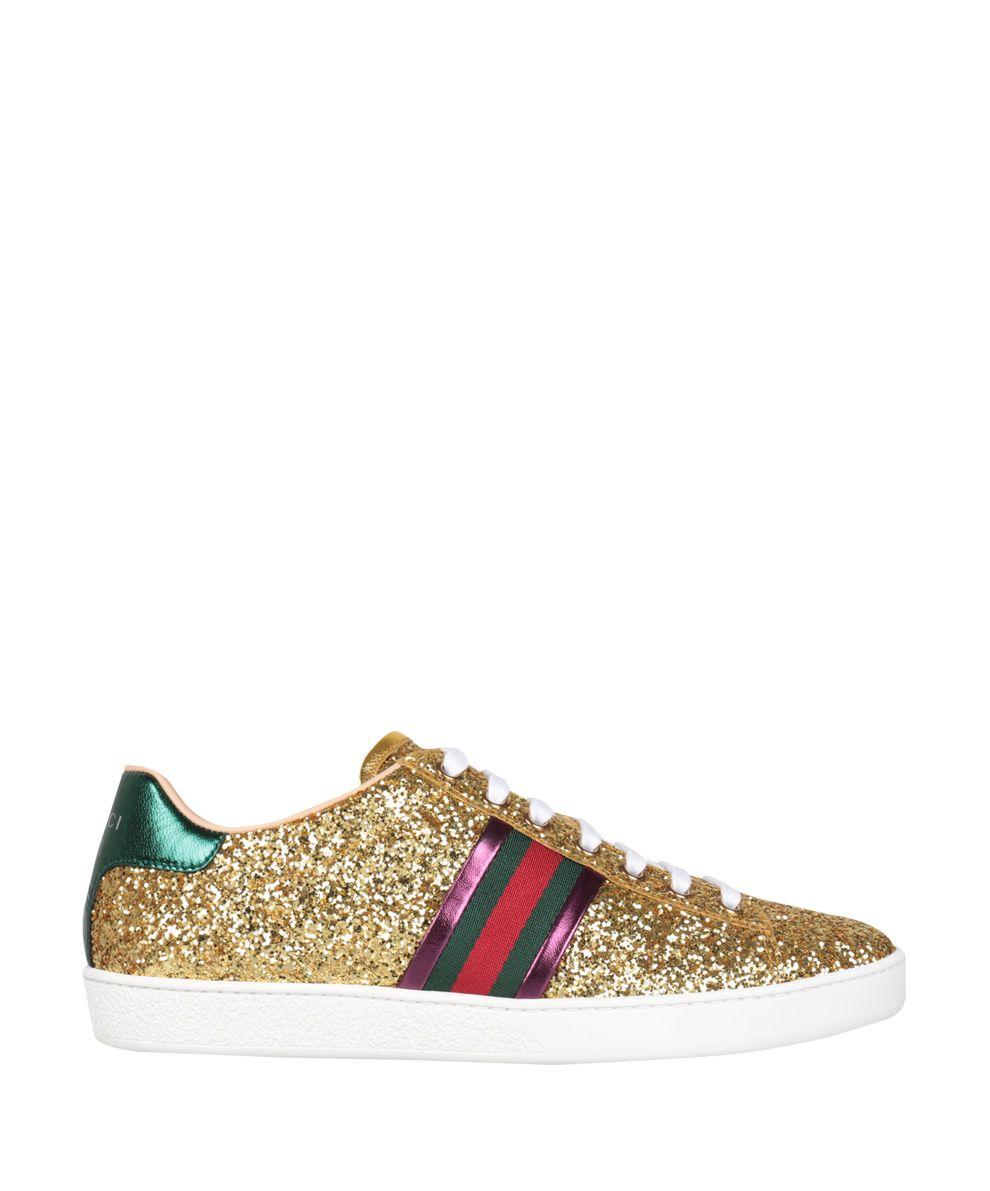 Gucci Glitter Ace Sneakers