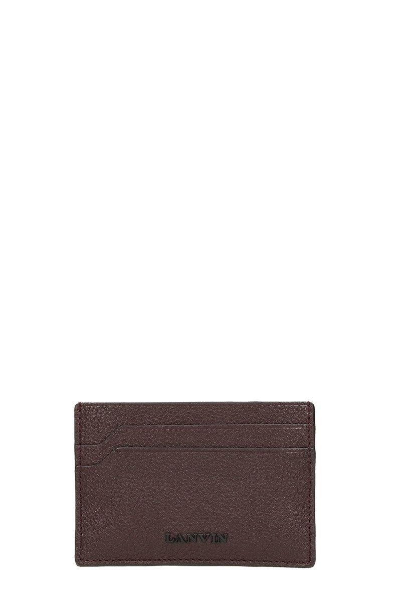 Lanvin Bordeaux Leather Wallet