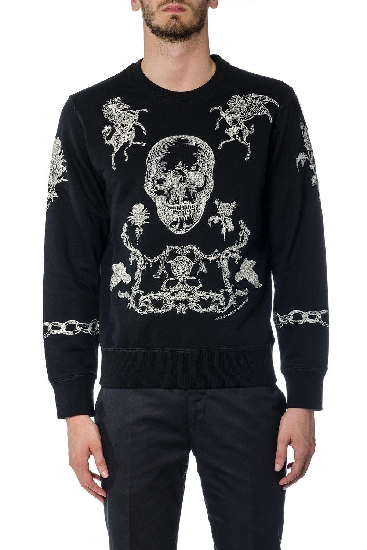 Alexander McQueen Skull Print Cotton Sweatshirt