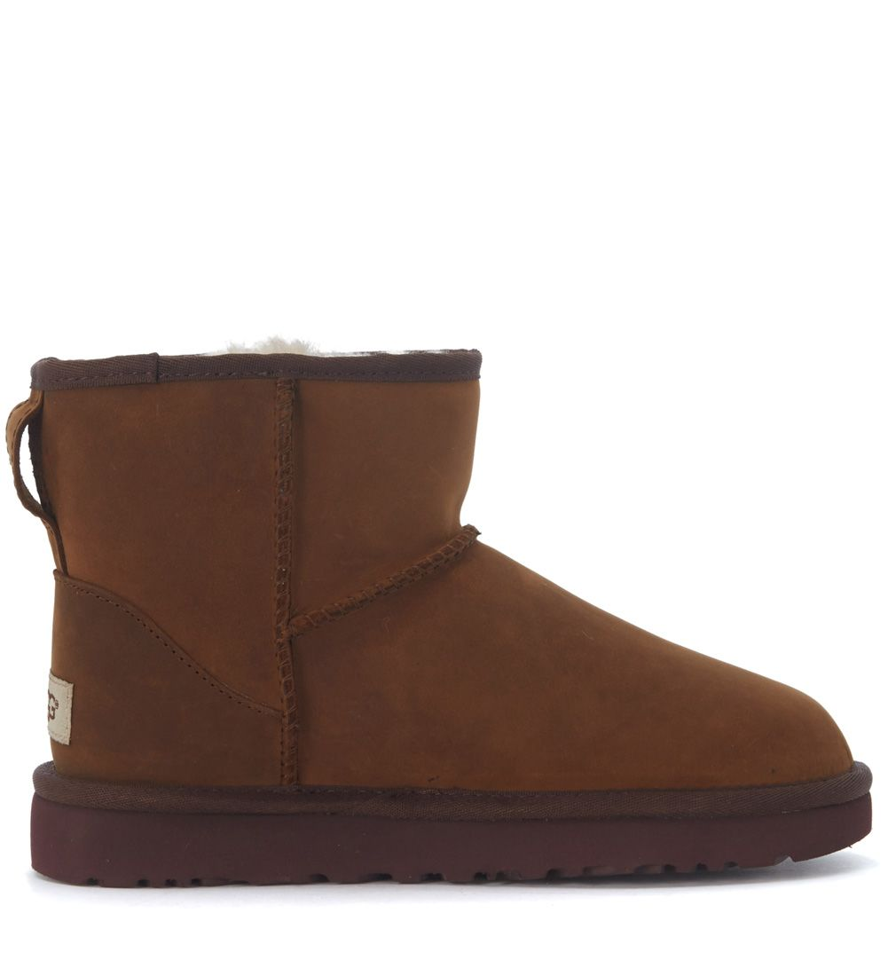 Ugg Classic Ii Mini Ankle Boots In Dark Brown Suede