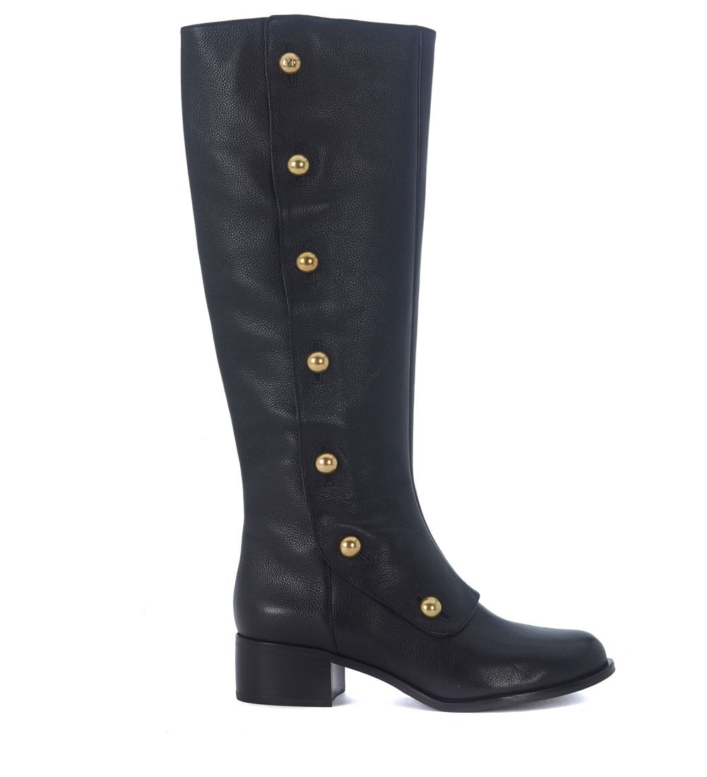 MASIE BLACK LEATHER BOOTS