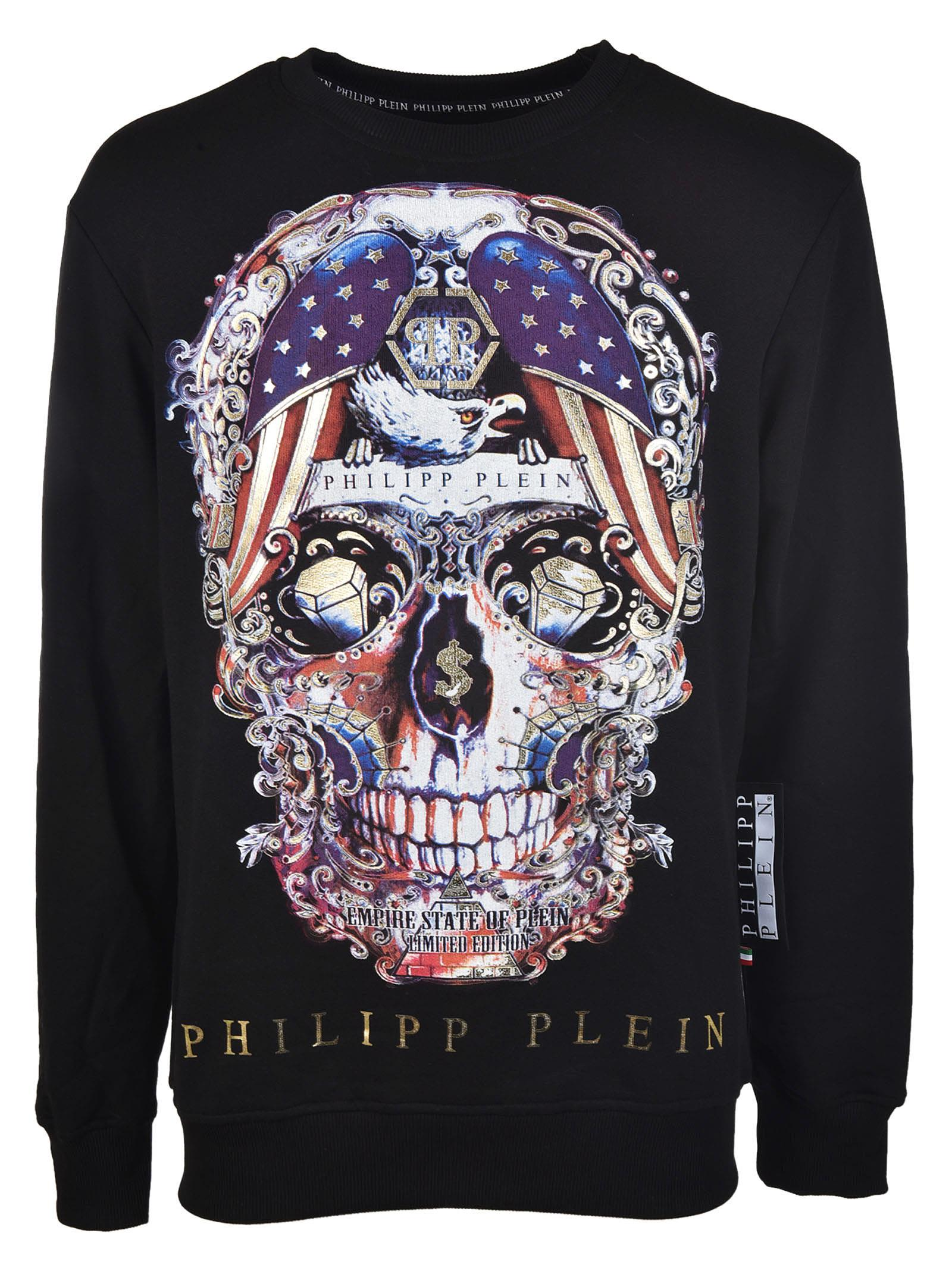 philipp plein philipp plein skull pusher sweatshirt no