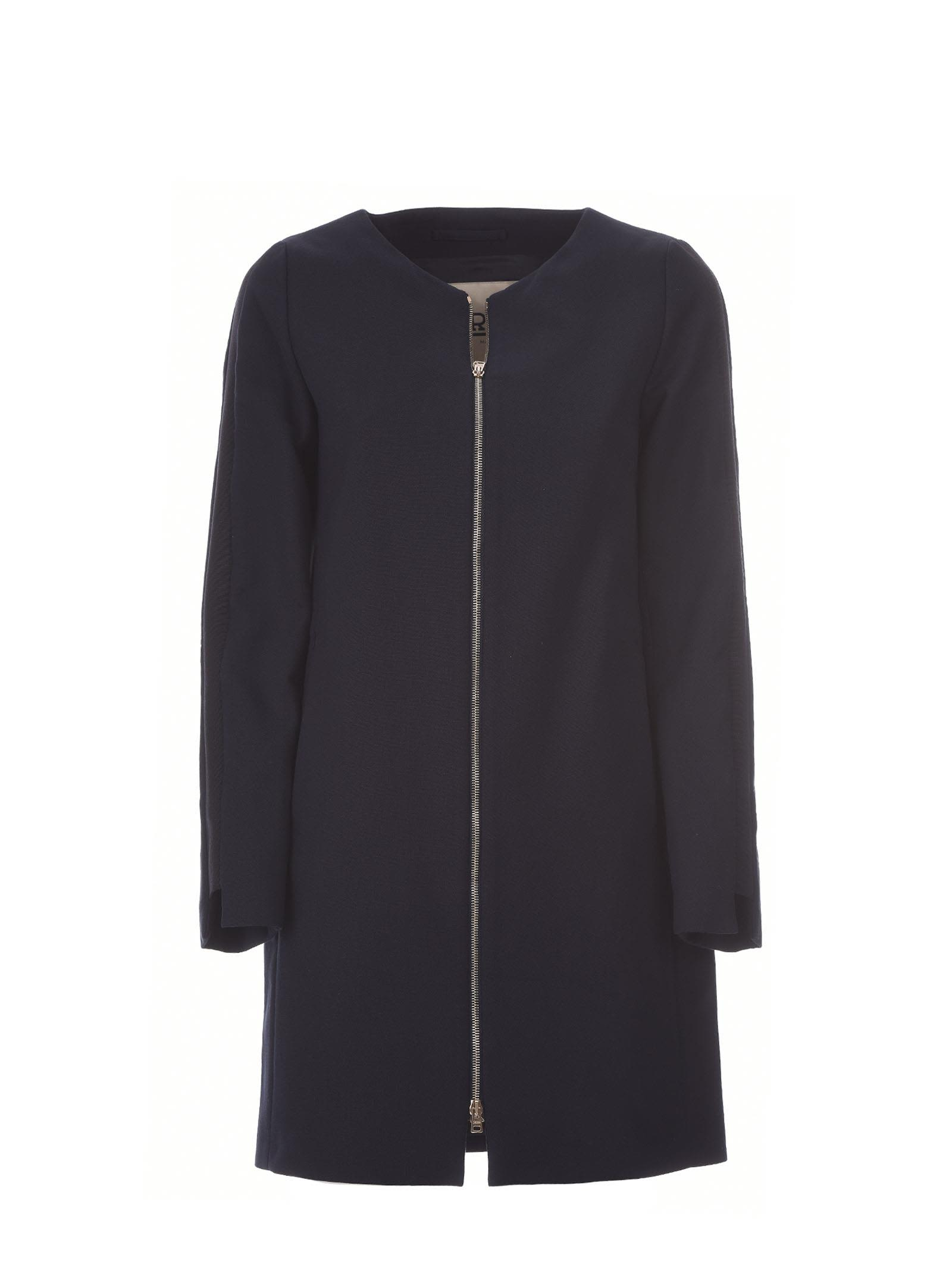 Herno Blue Zipped Coat