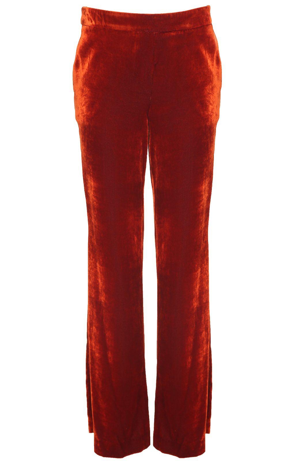 LAutre Chose Wide-leg Velvet Trousers
