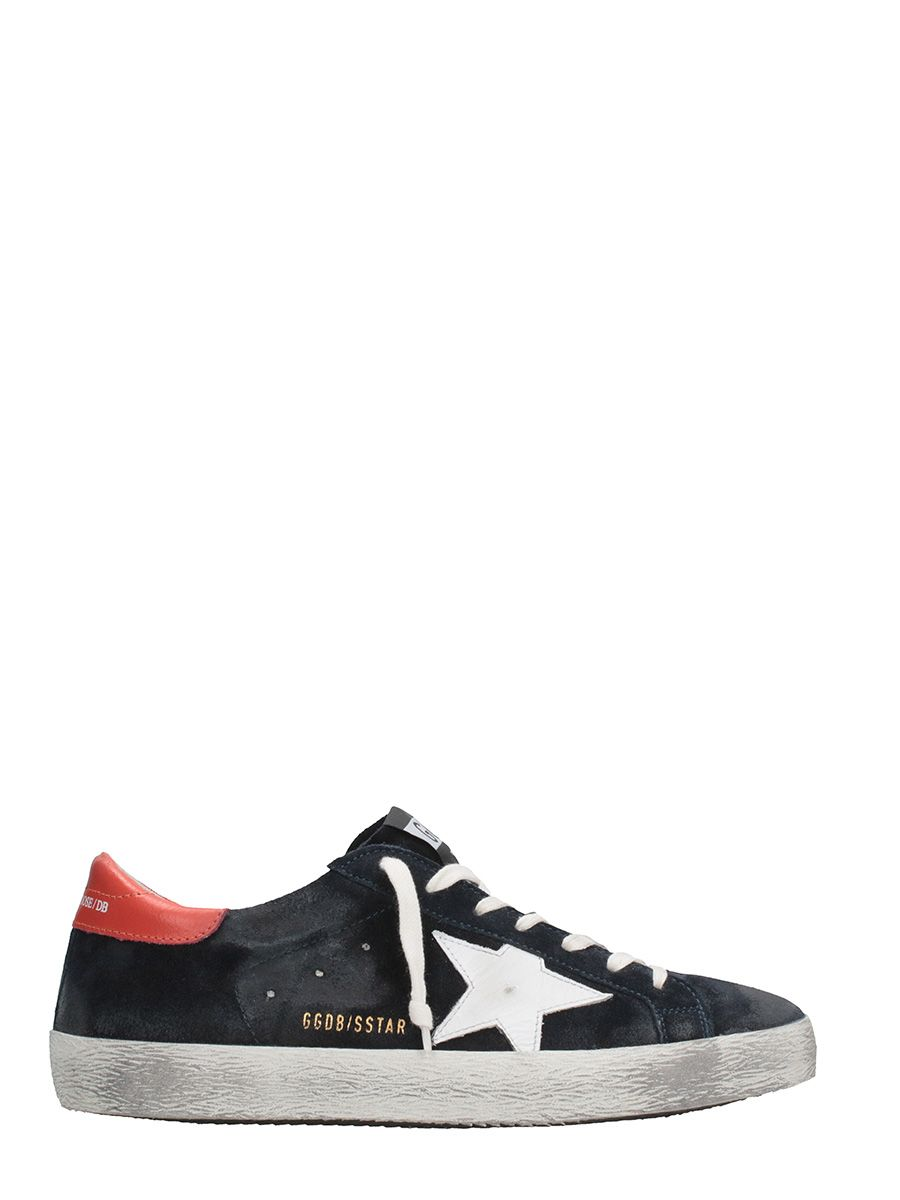 Golden Goose Starter Black And White Suede Sneakers