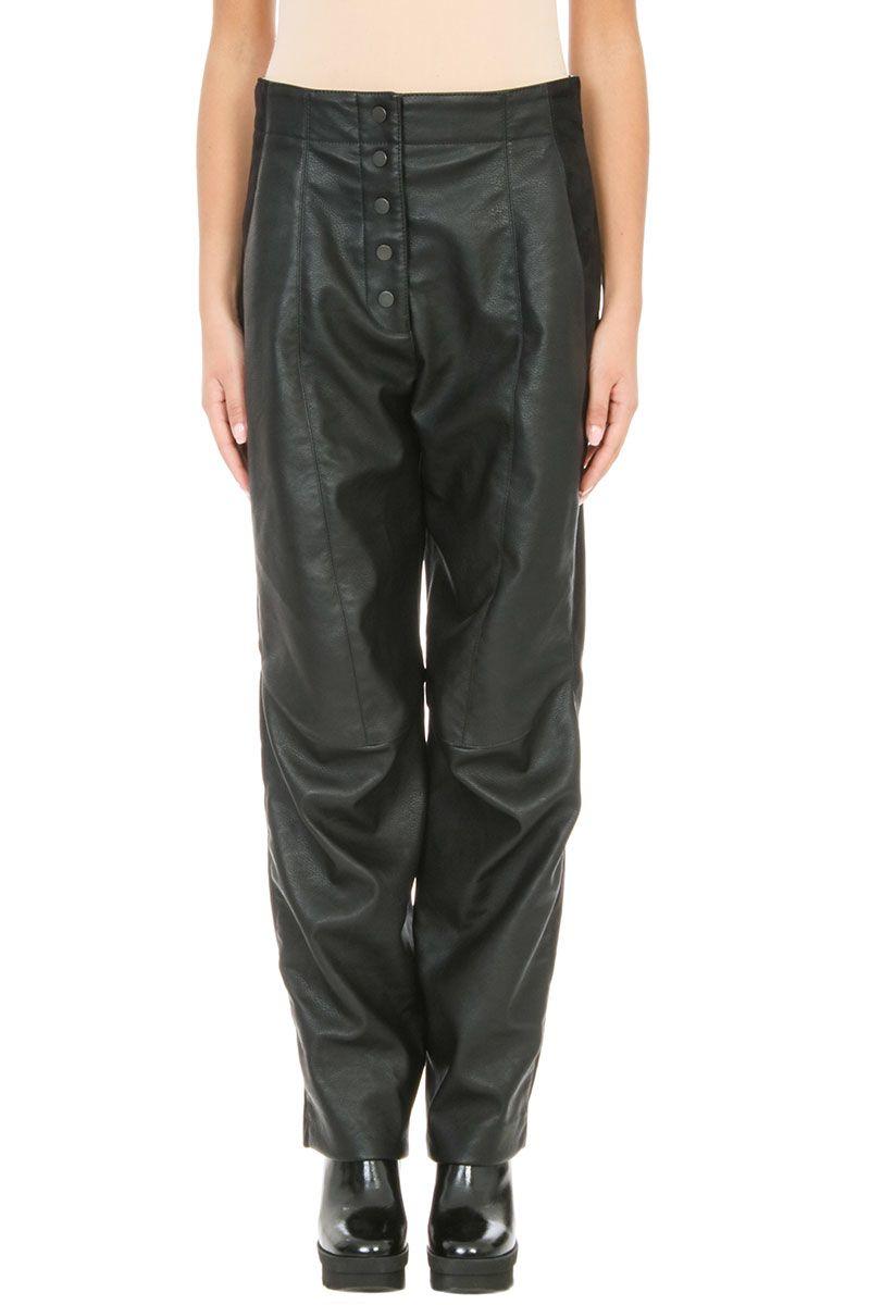 Stella McCartney Fantine Alter Lea Trouser Black Faux-leather