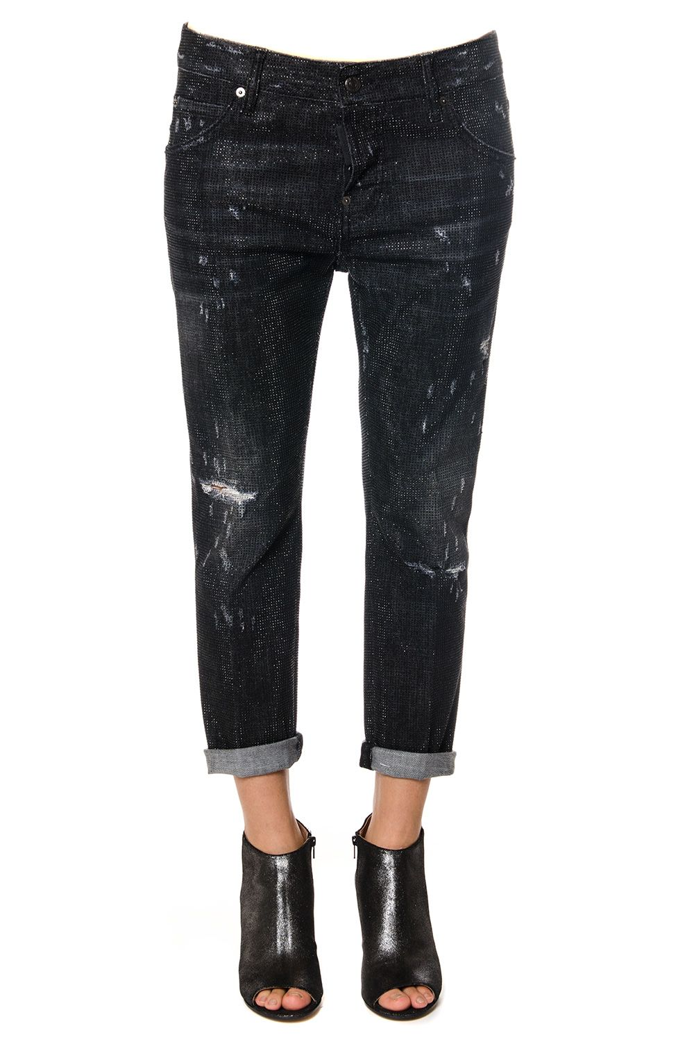 Dsquared2 Cool Girl Microstudded Denim Jeans