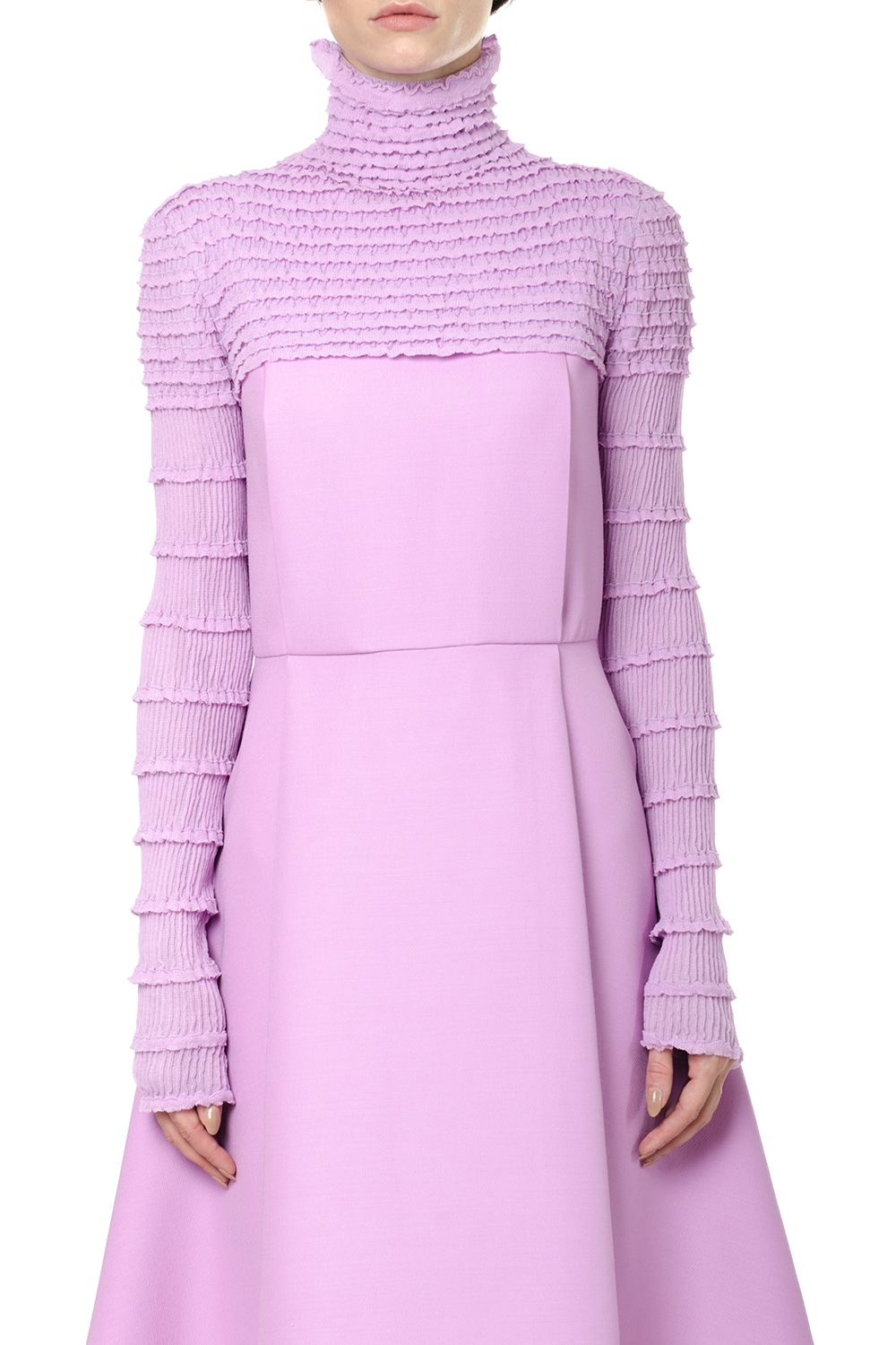 Valentino  CROPPED LENGTH HIGH-COLLAR JUMPER