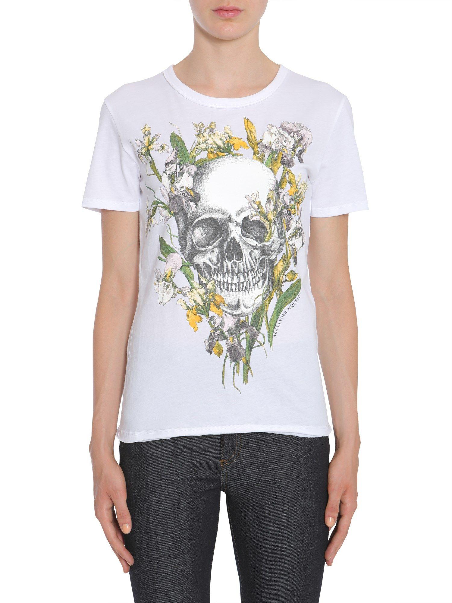 Wild Iris Skull T-shirt