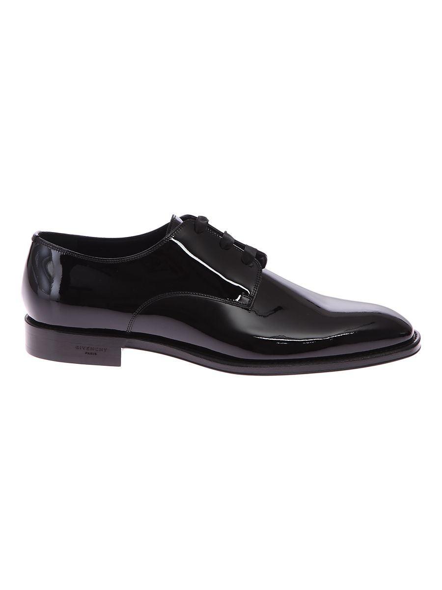Patent Leather Derby Lace-up Shoes