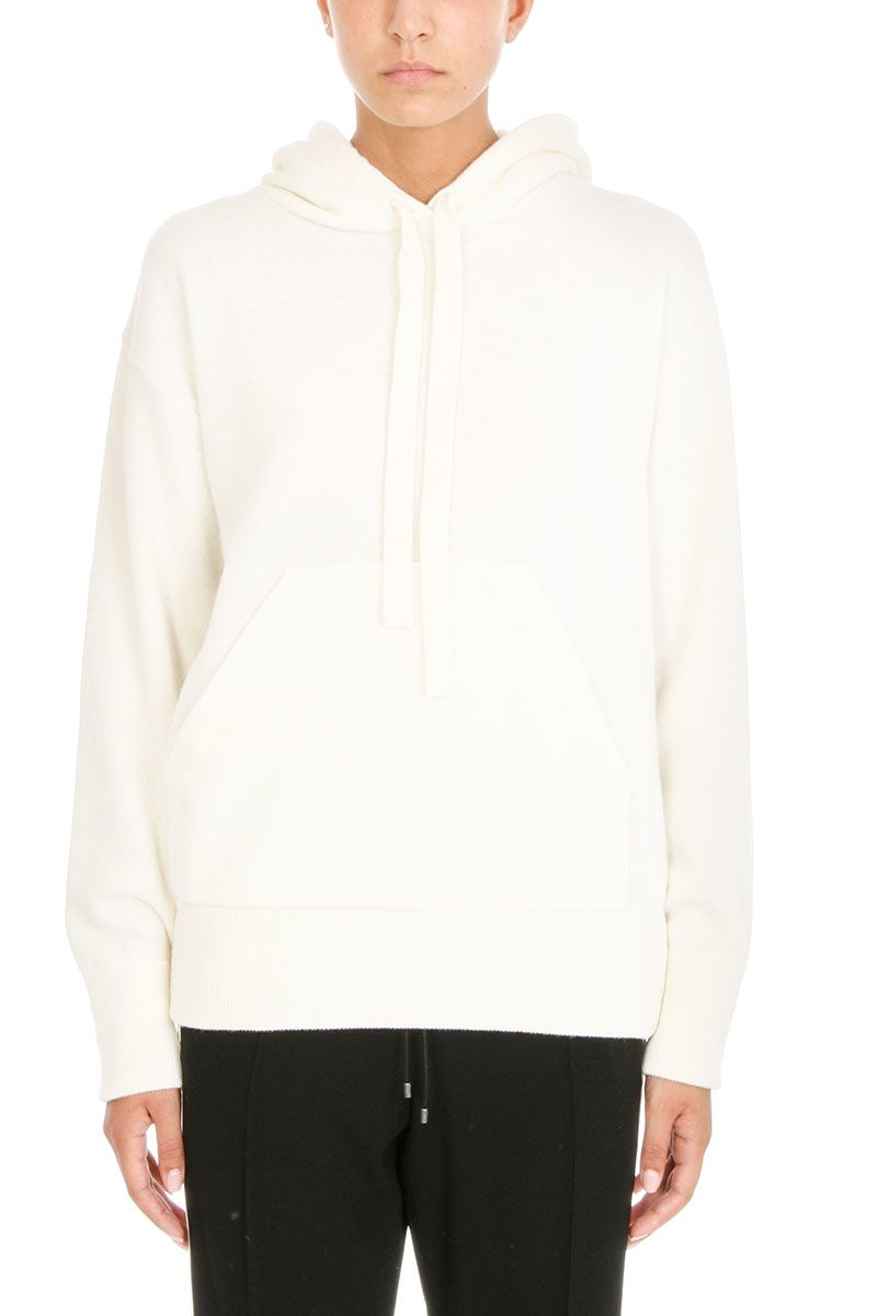 Laneus Hooded Ruffled Sweater