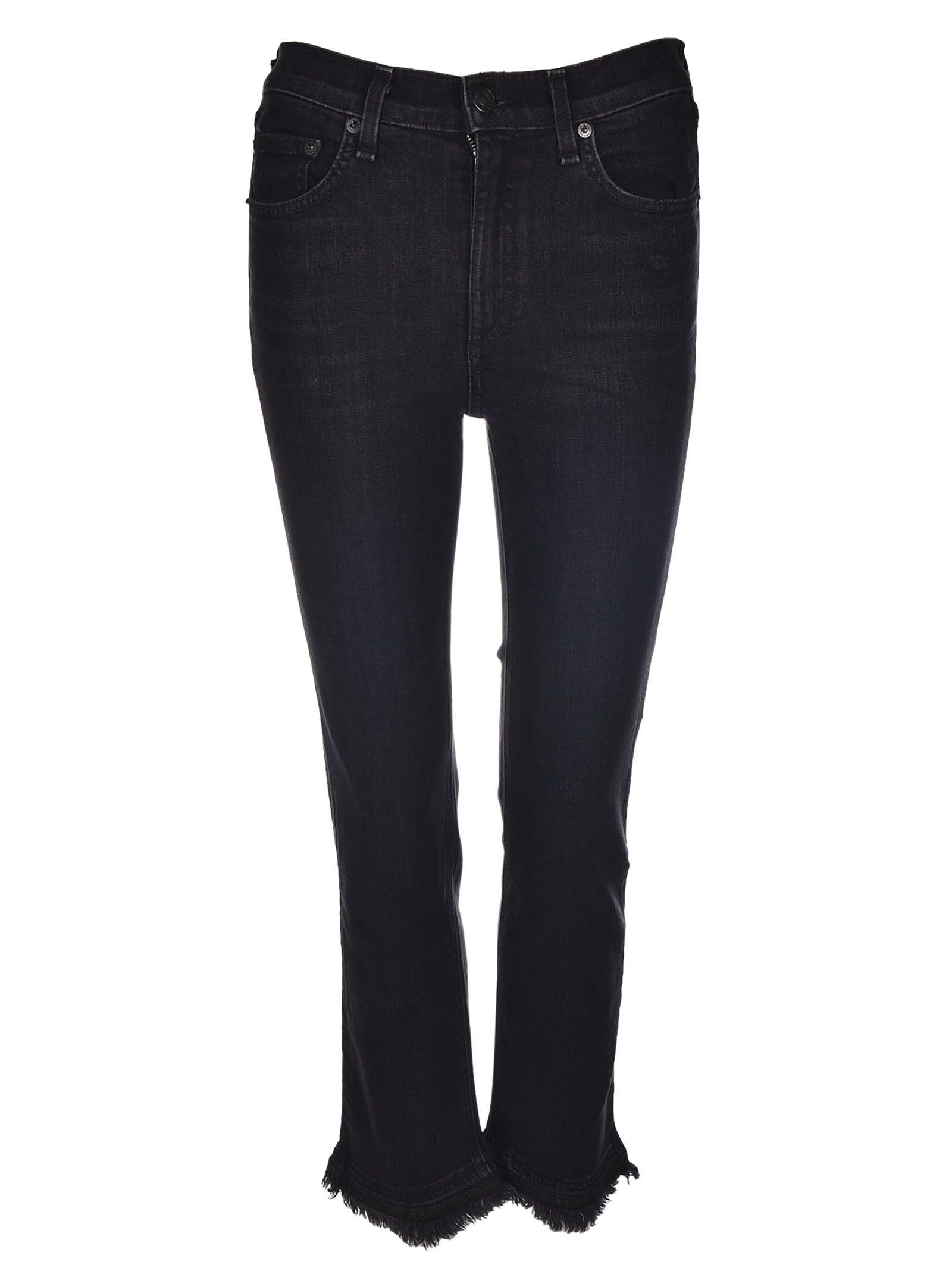 Rag & Bone Cropped Raw Hem Jeans