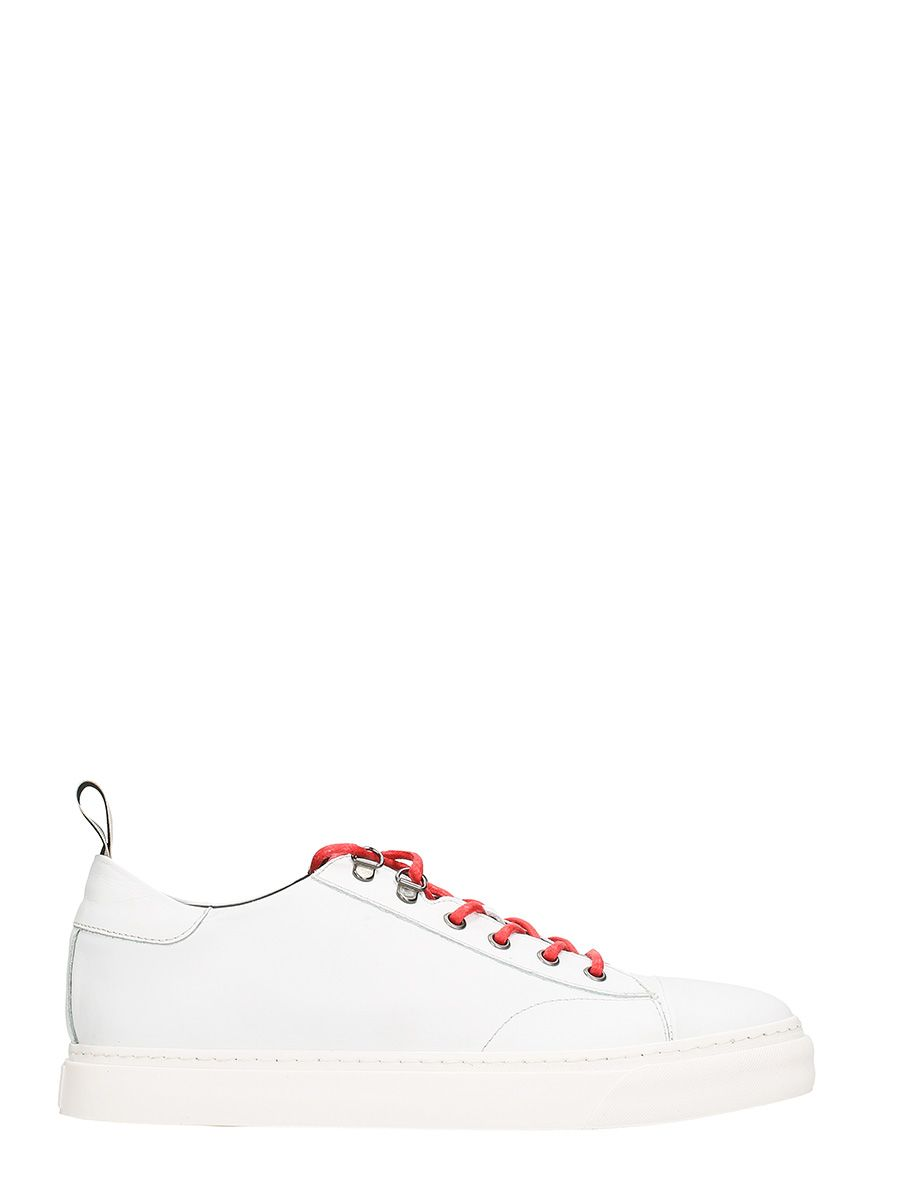 Low Brand Yojii White Leather Sneakers