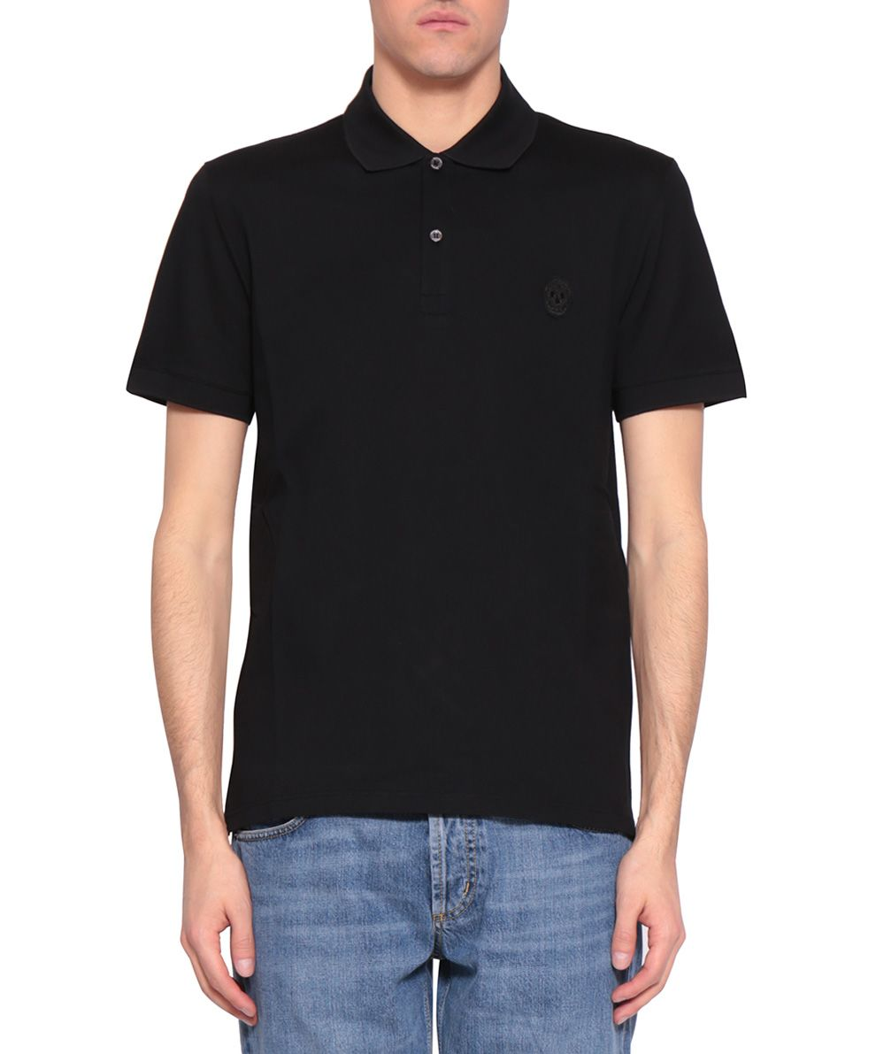 Alexander McQueen Skull Cotton Polo T-shirt