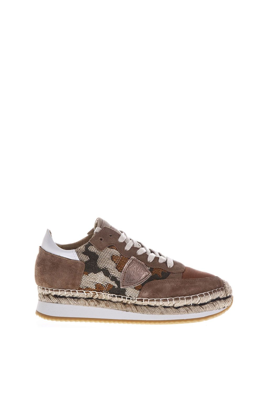 Philippe Model Saint Tropez Suede & Jacquard Sneakers