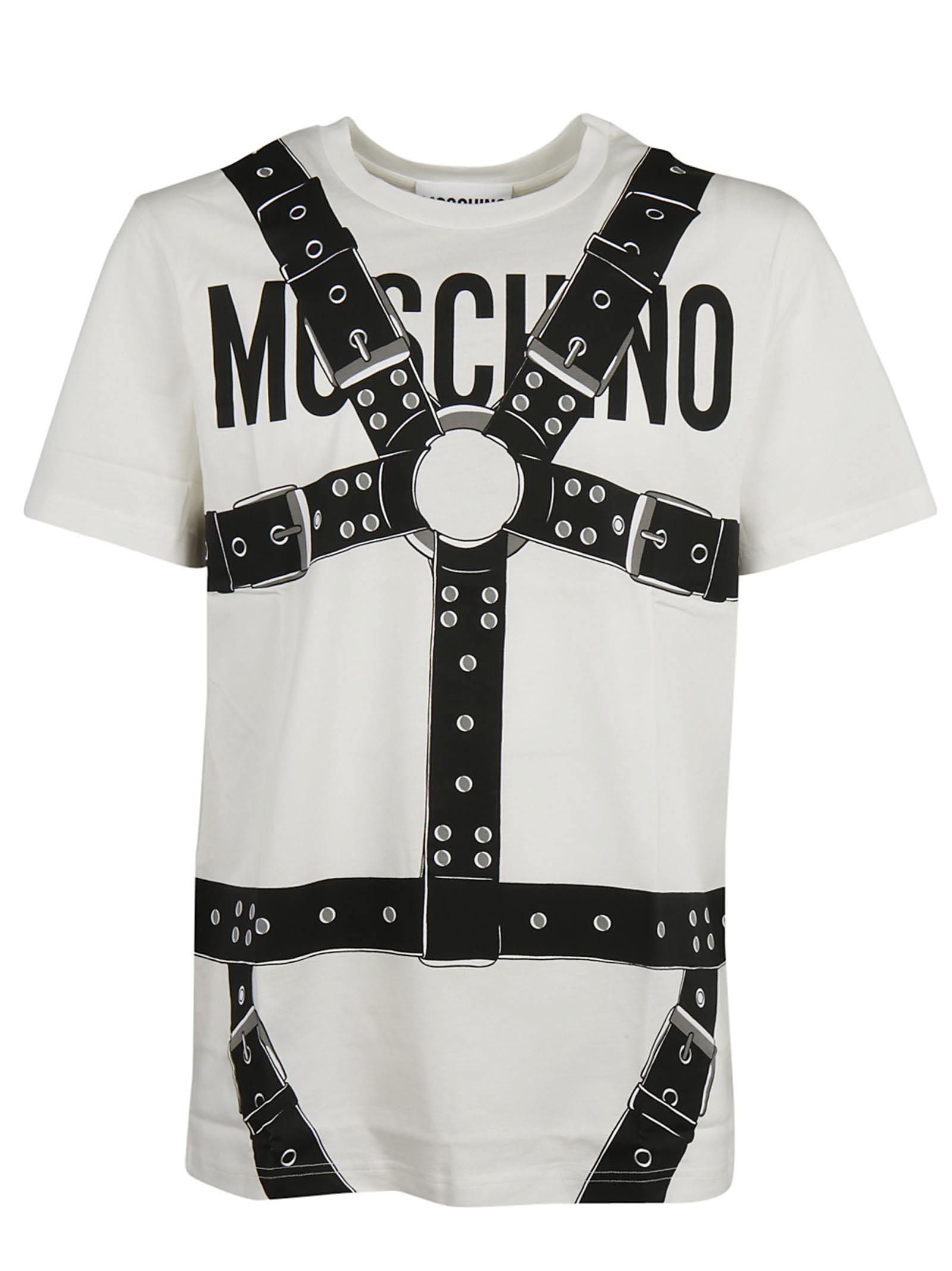 Moschino Logo And Harness Print T-shirt