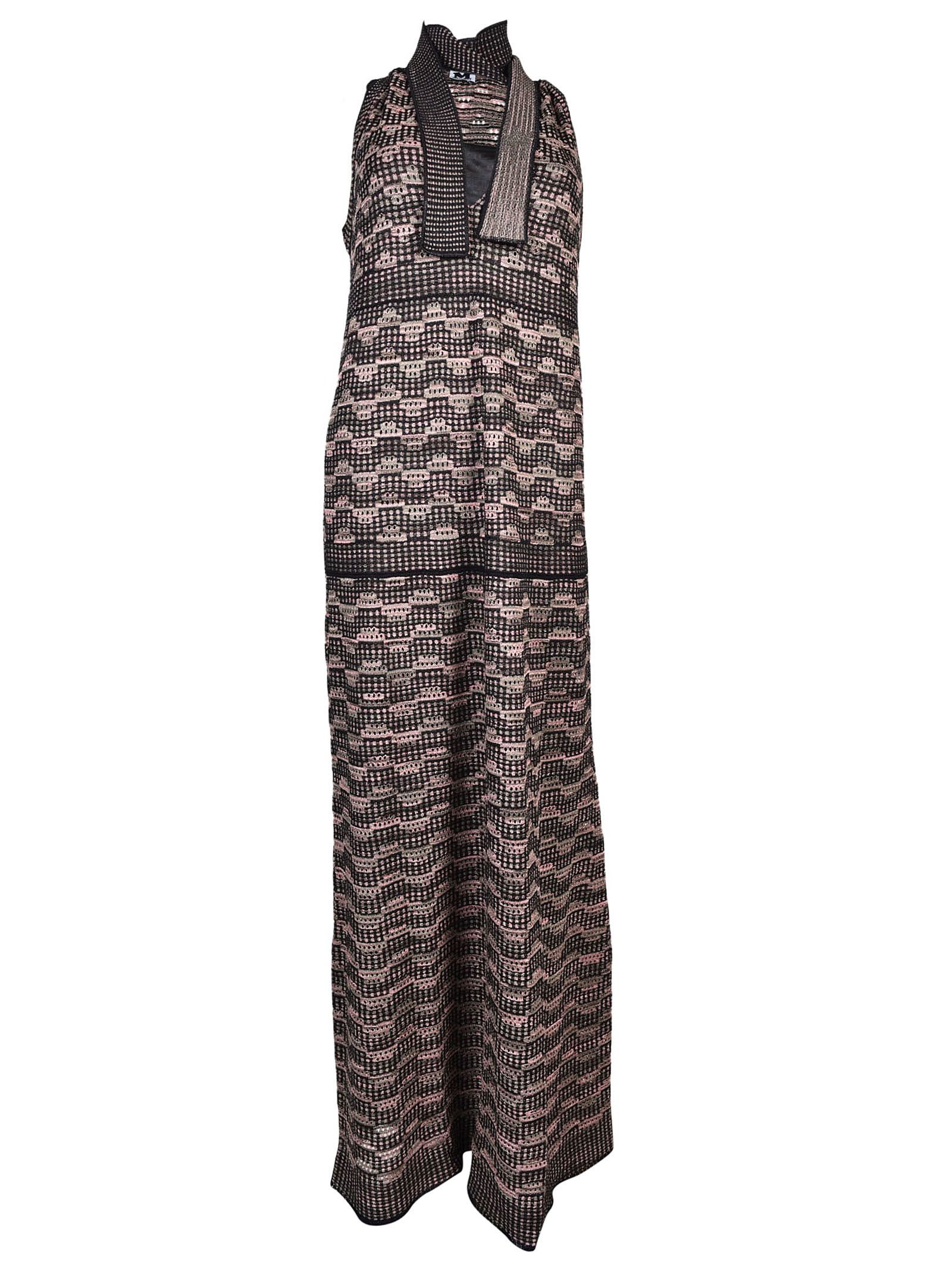 M Missoni Lace-Up Detail Dress