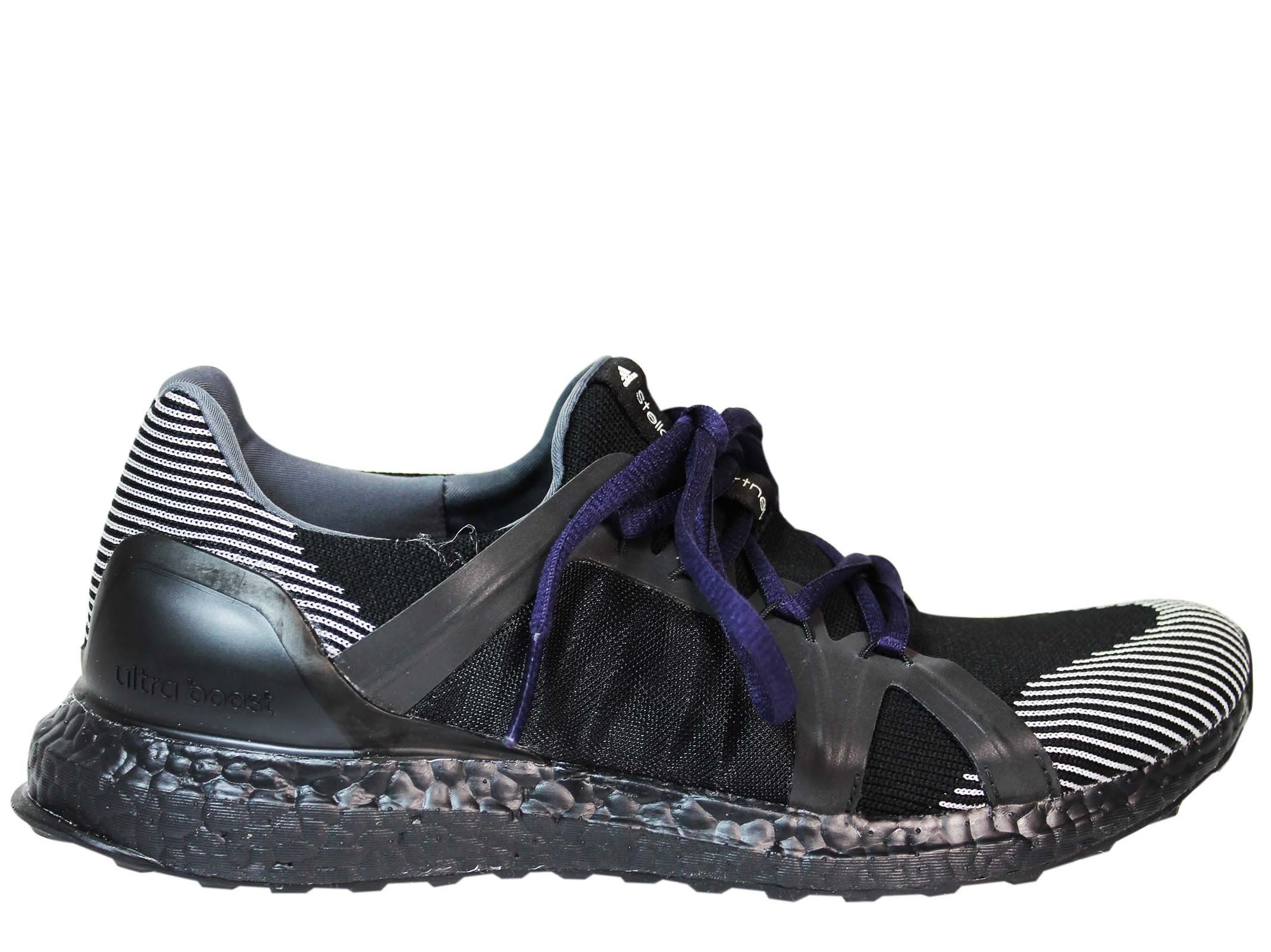 Adidas by Stella McCartney Black White Ultra Boost Low Sneakers