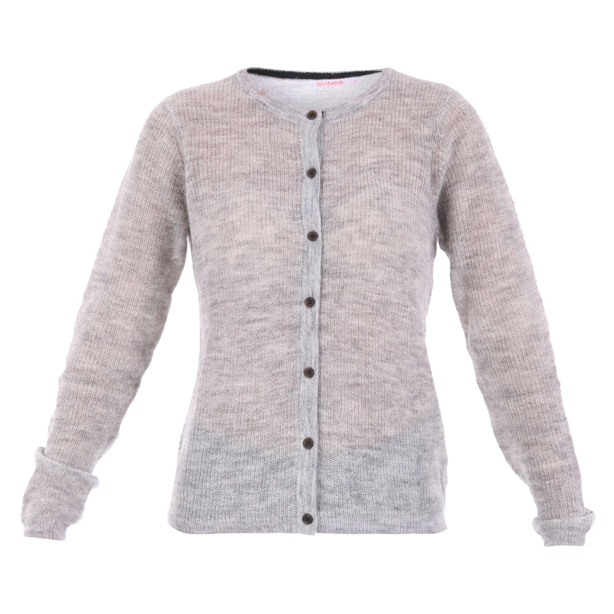 Sun 68 Wool-alpaca Blend Cardigan Sweater
