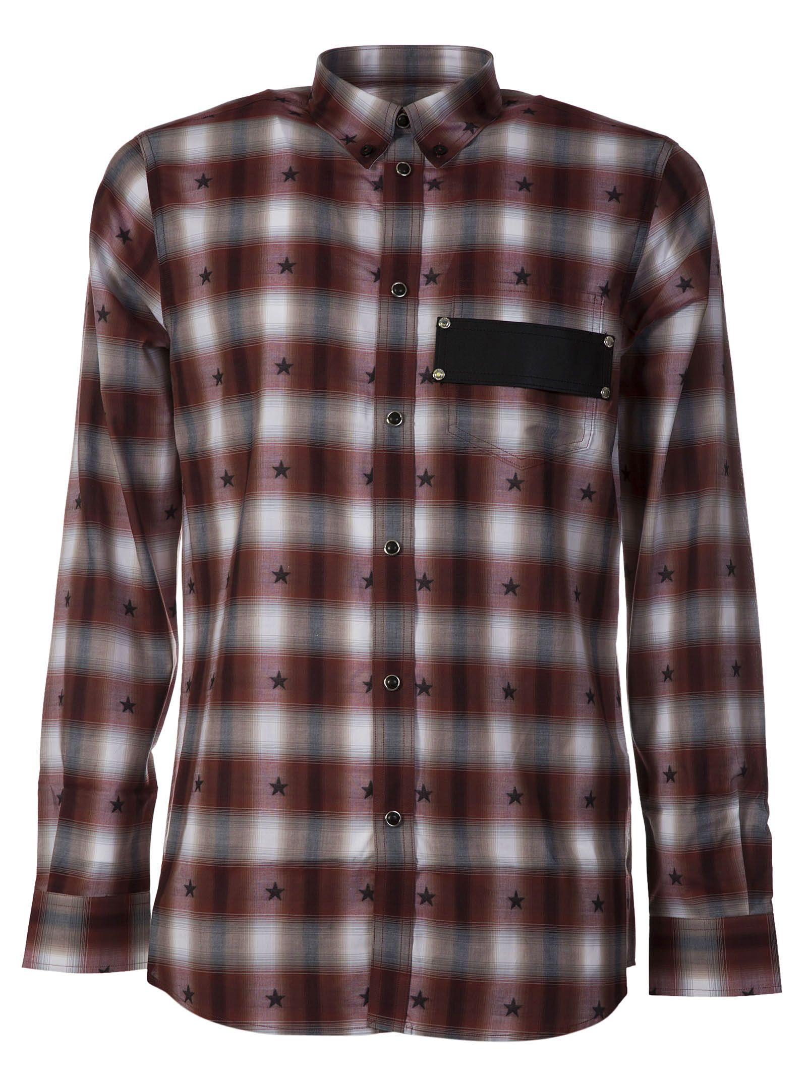 Givenchy Checked Star Print Shirt