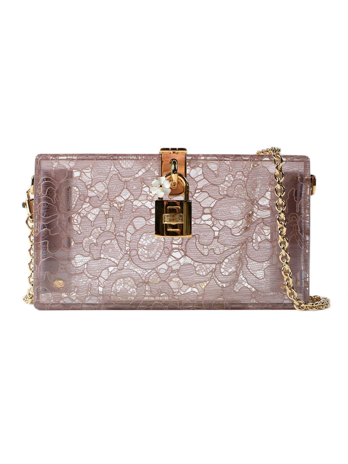 Dolce & Gabbana Plexi And Lace Clutch