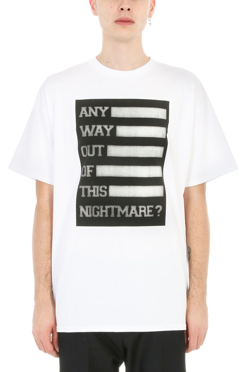Raf Simons Any Way Out White Cotton T-shirt