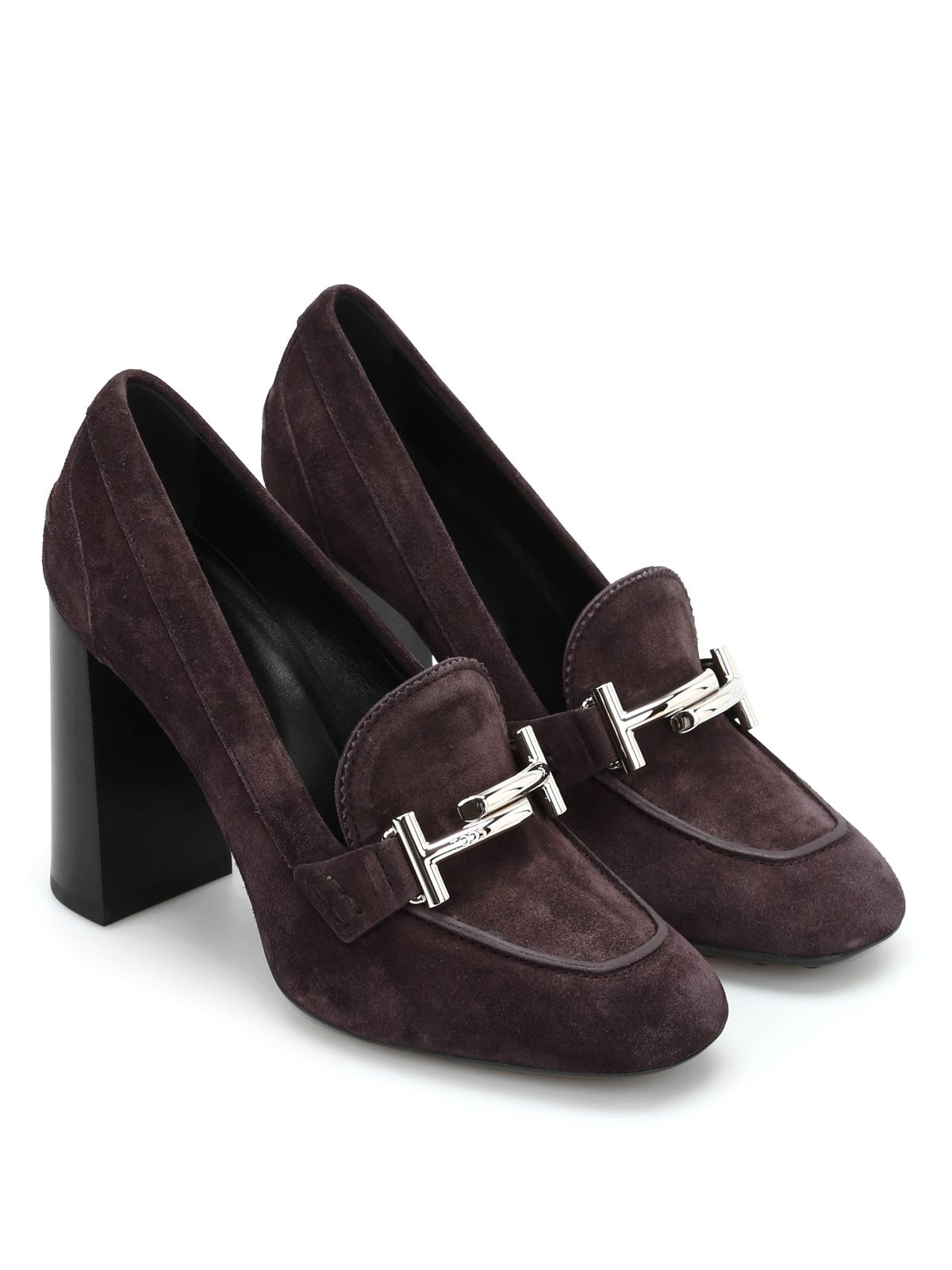 Tods Double T Suede Pumps