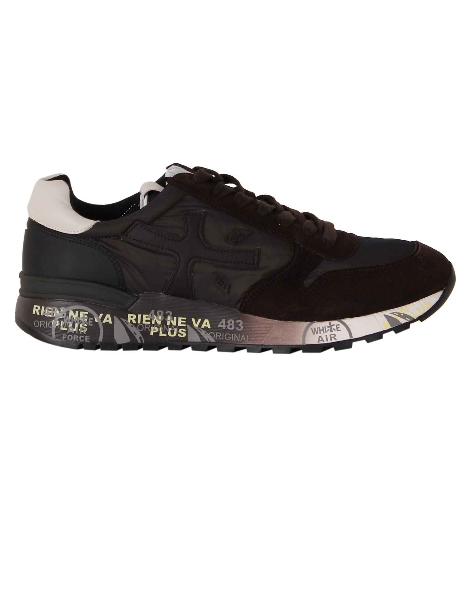 Premiata Brown Fabric Mick Sneakers