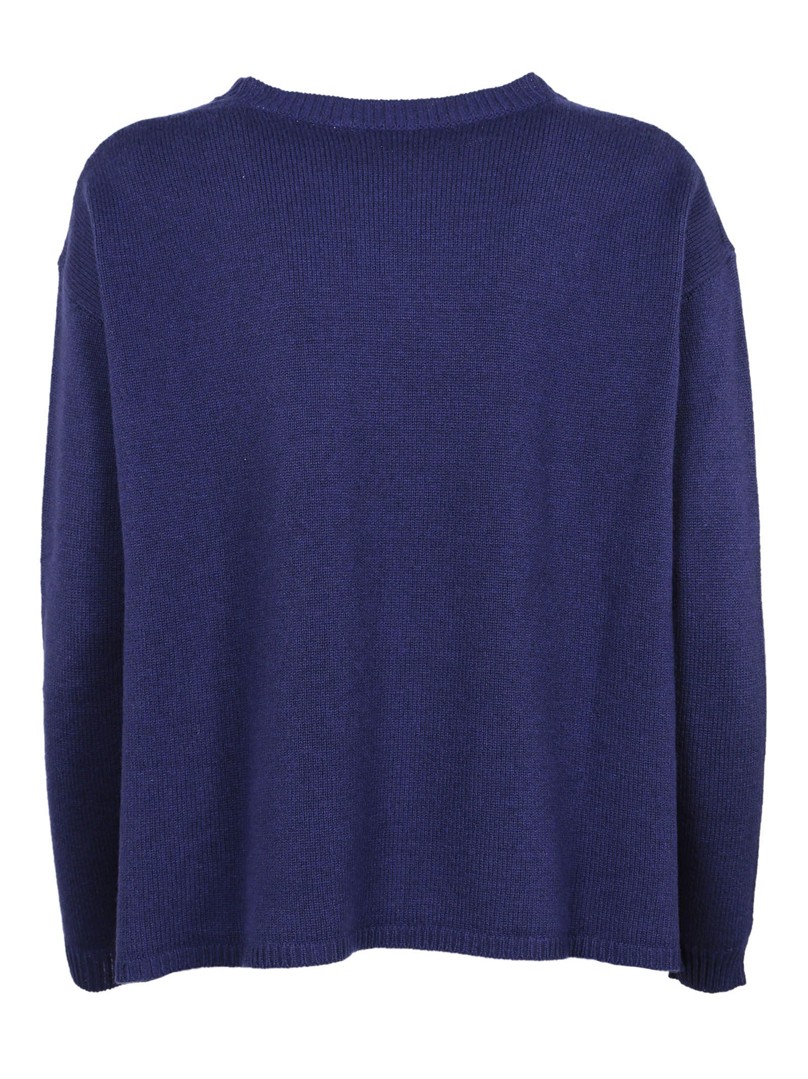 Peserico - Peserico Cable Knit Sweater - Blue, Women's Sweaters ...