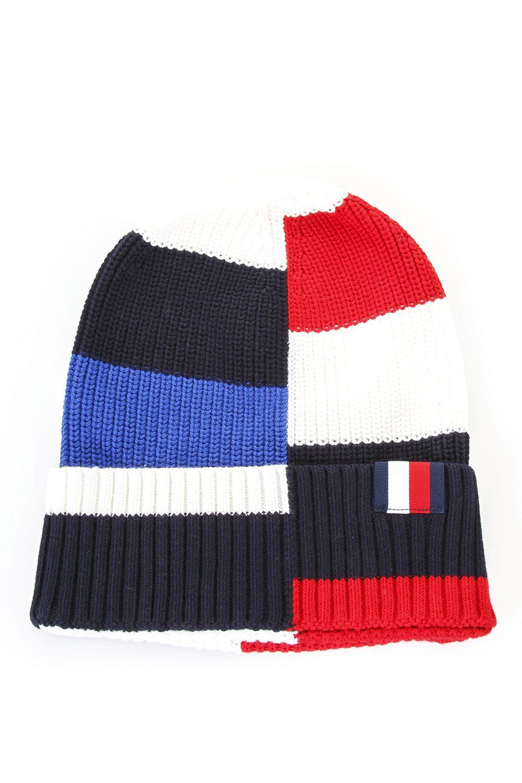Tommy Hilfiger Multicoloured Wool Beanie Hat