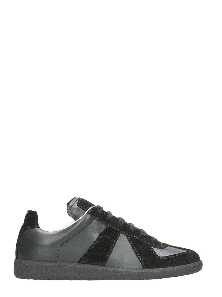 Maison Margiela Replica Black Leather And Suede