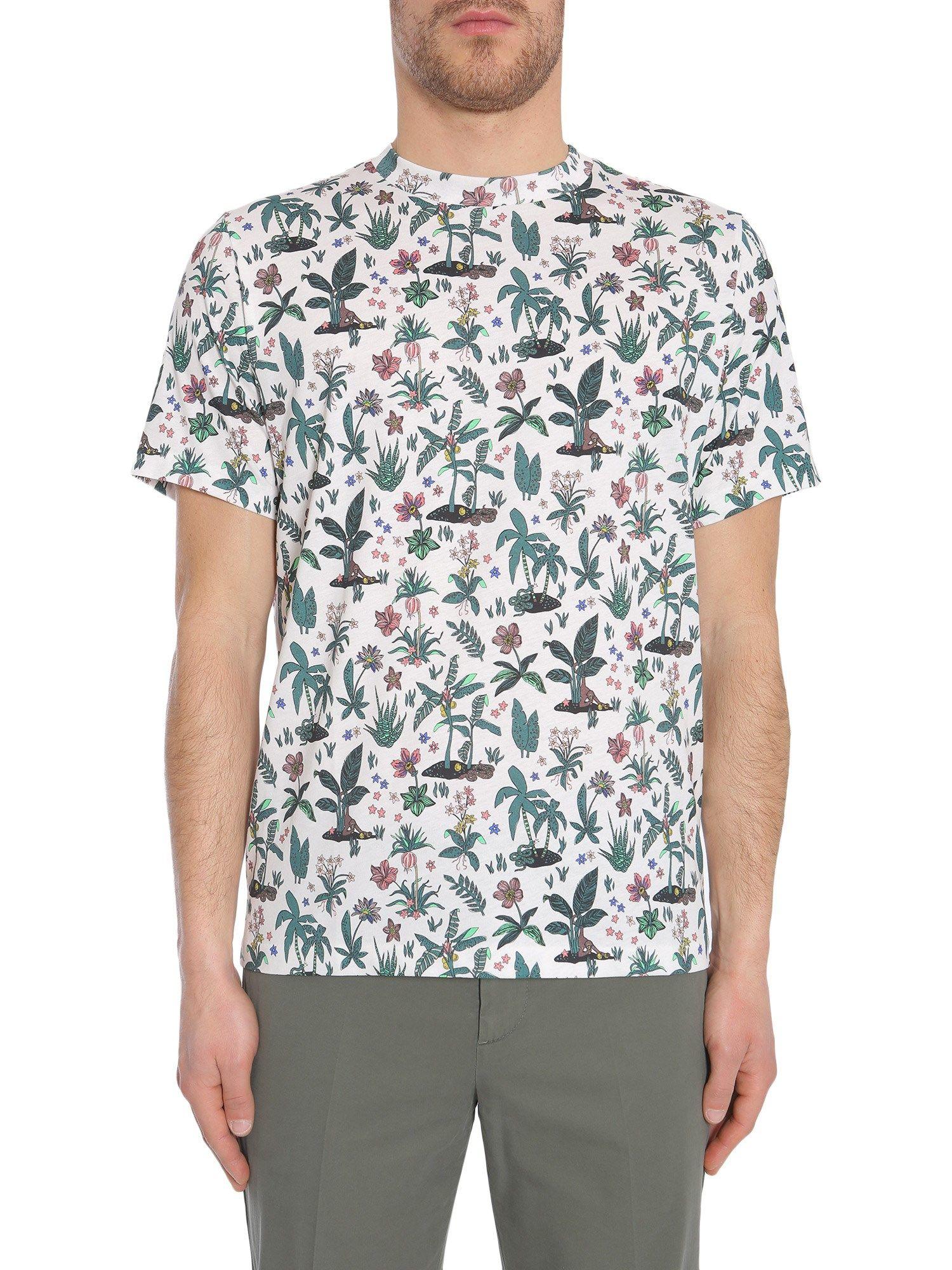 Tropical Floral Print T-shirt