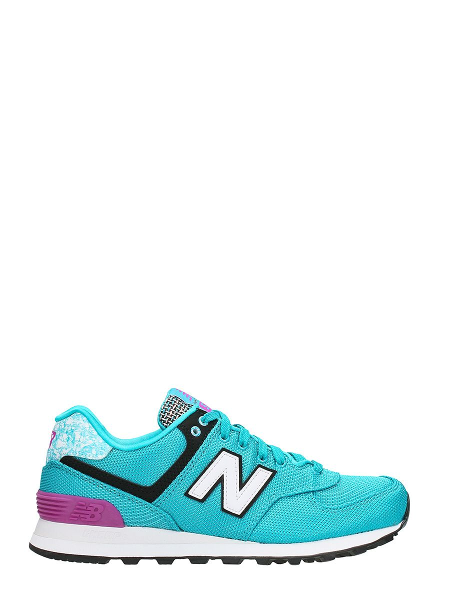 New Balance 574 Green Pink Sneakers