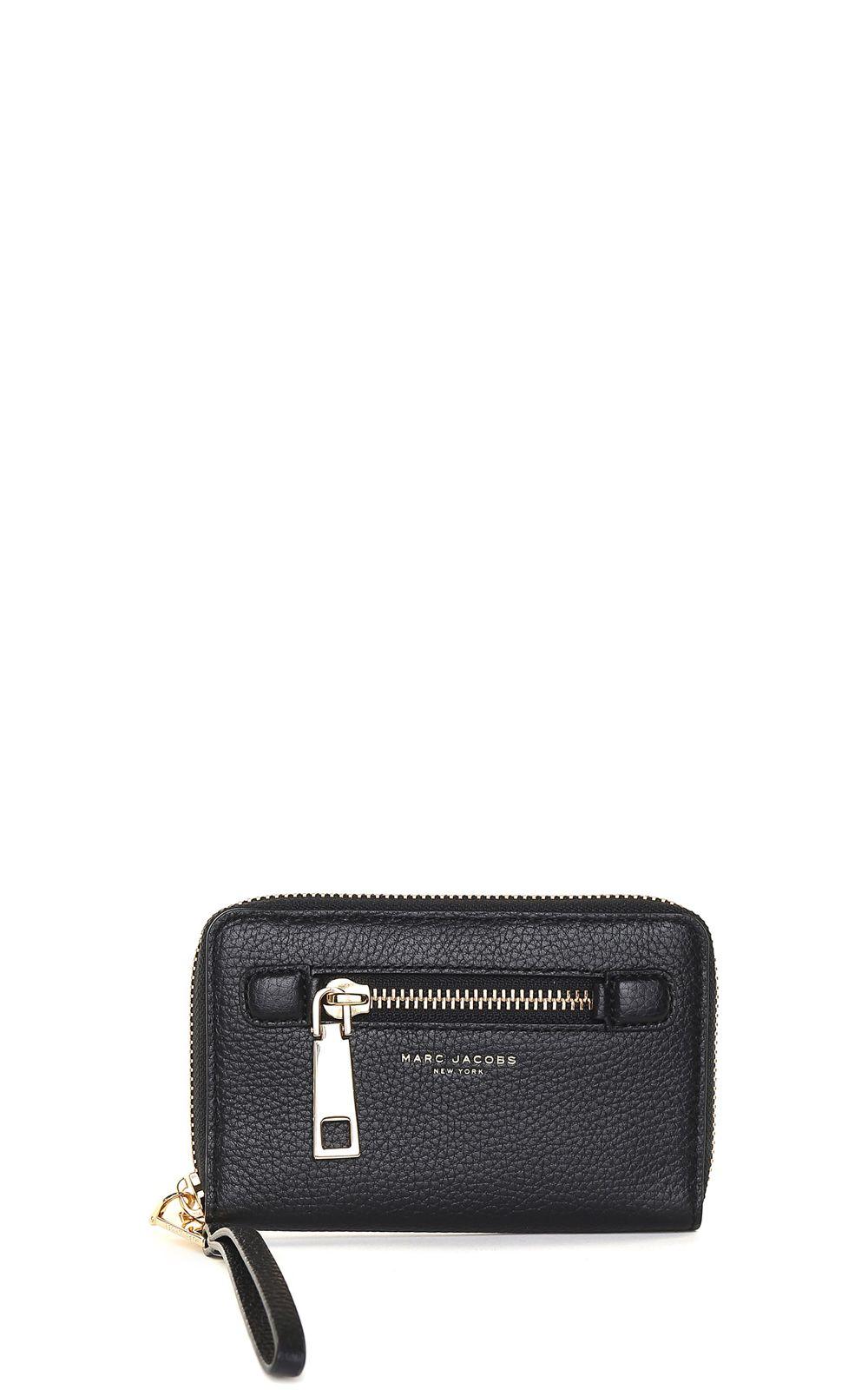 Marc Jacobs Gotham Zip Phone Wristlet Grained-leather Wallet