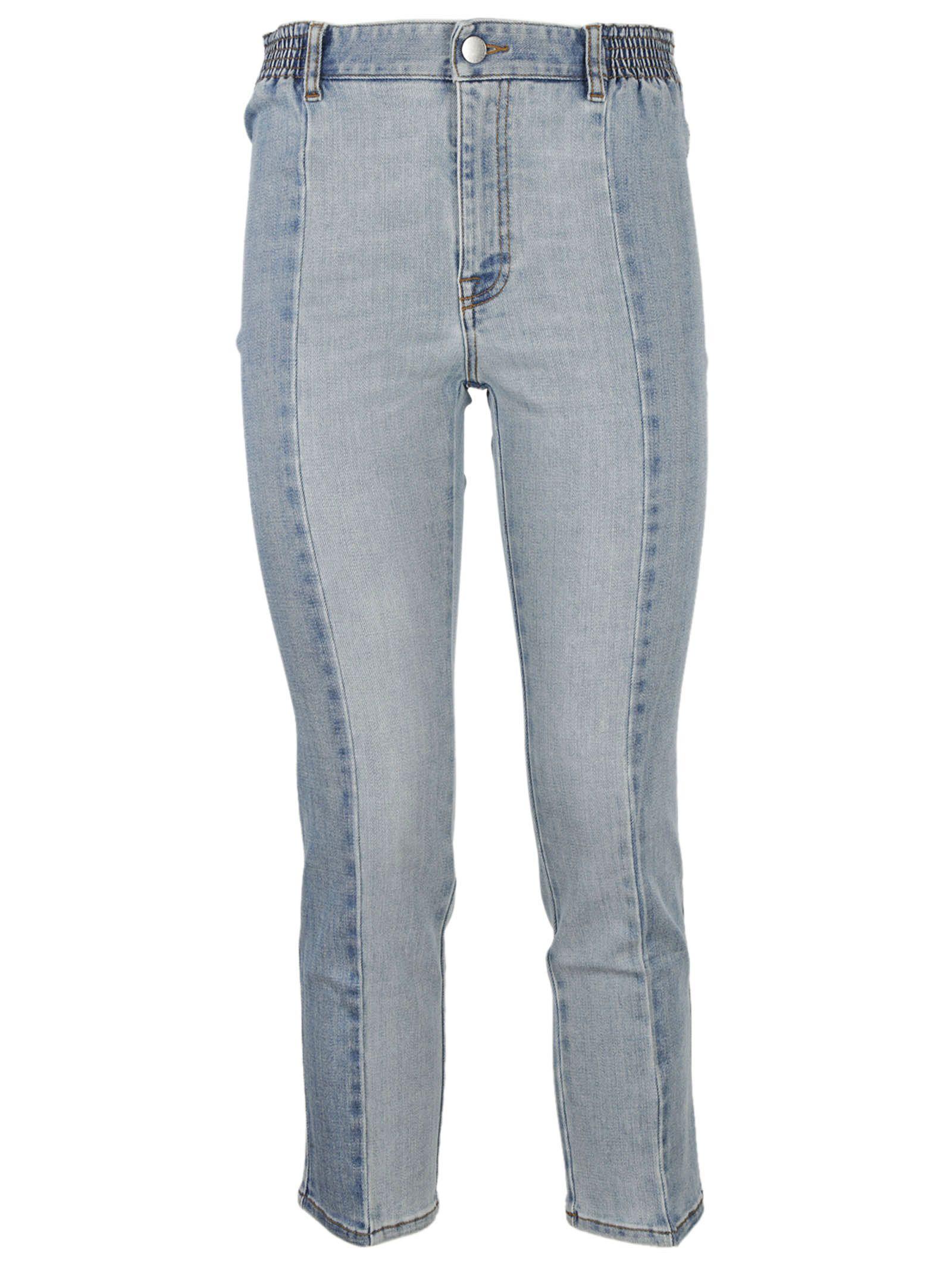 Stella McCartney Paneled Cropped Jeans