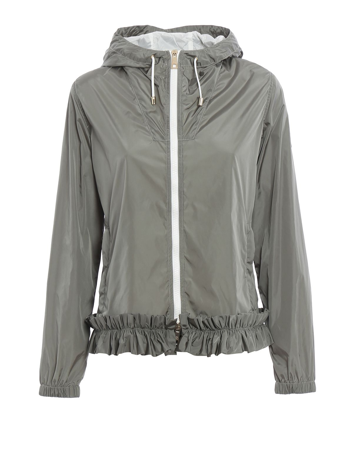 Frilled Hooded Nylon Jacket
