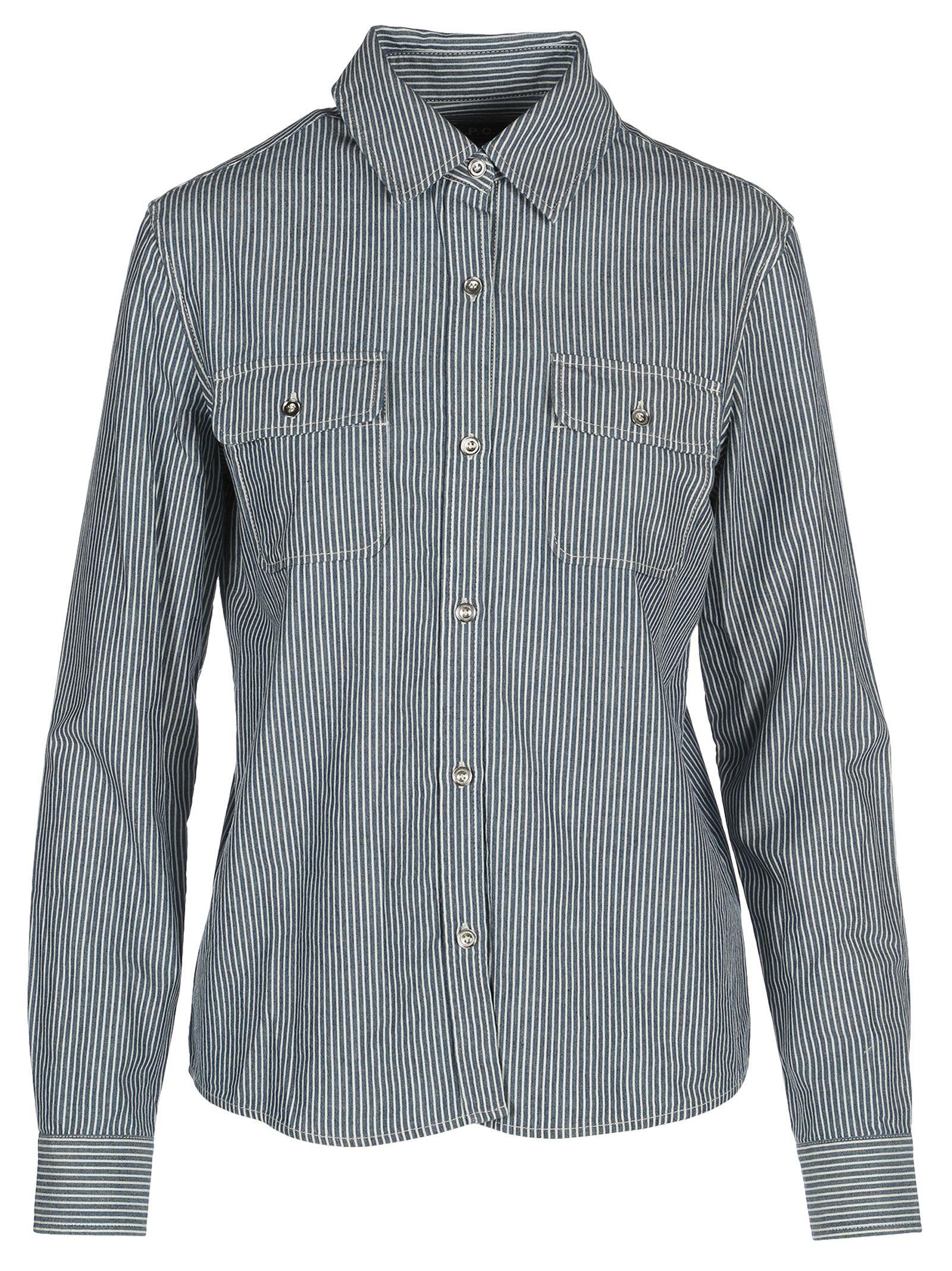 A.p.c Girl Striped Shirt