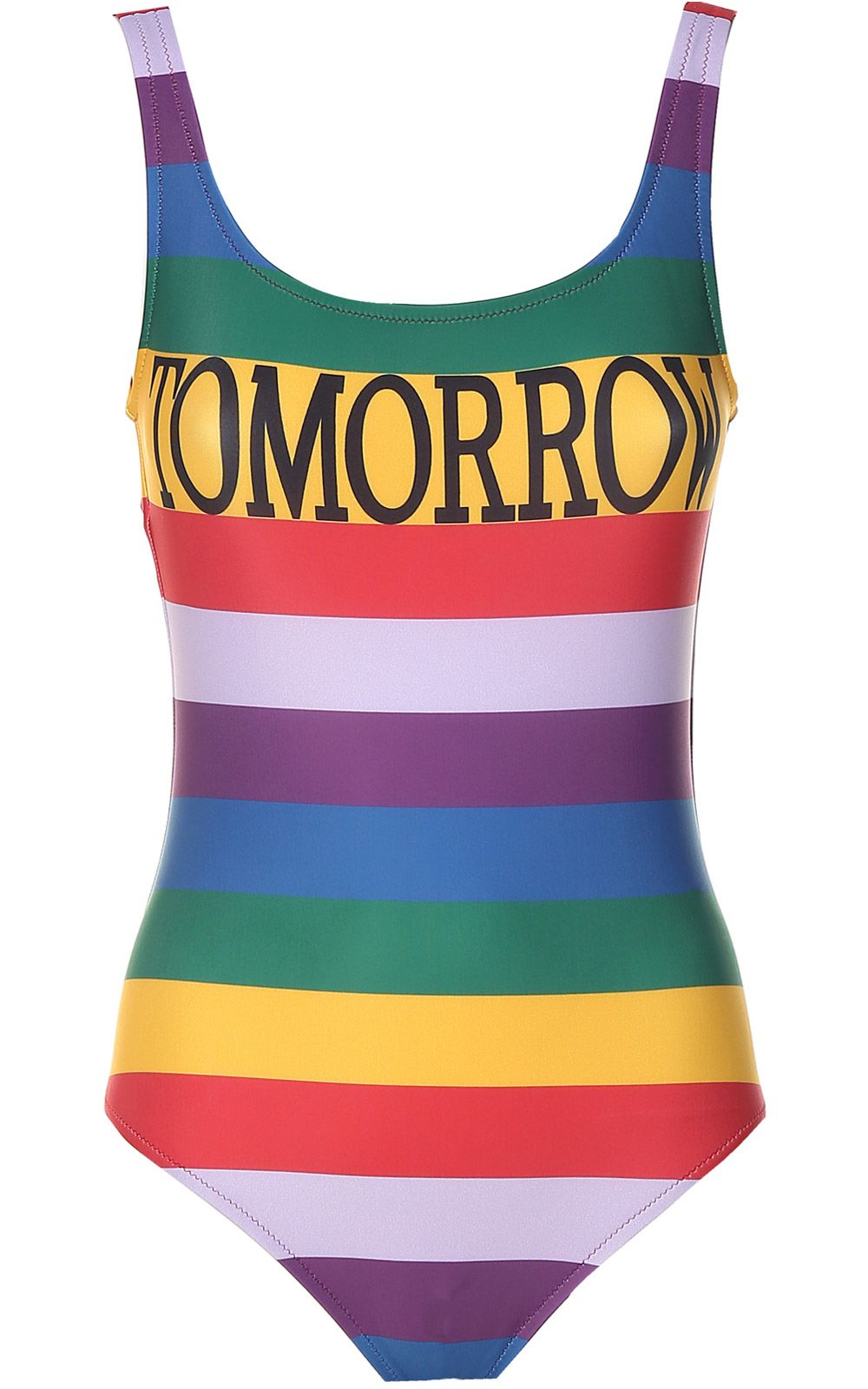 Alberta Ferretti Tomorrow Striped Swimsuit