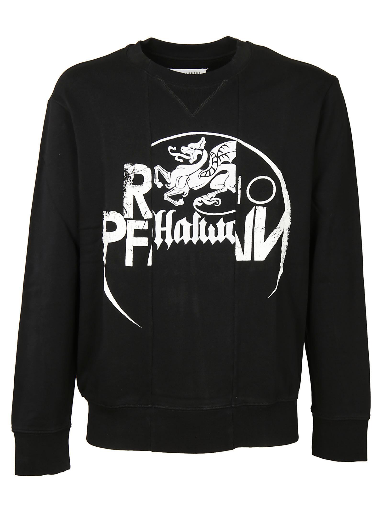 Maison Margiela Paneled Irish Print Sweatshirt
