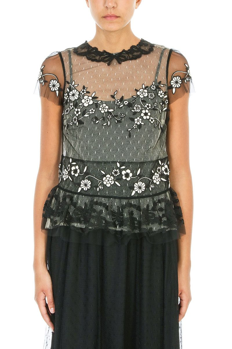 RED Valentino Tulle Macram? Top