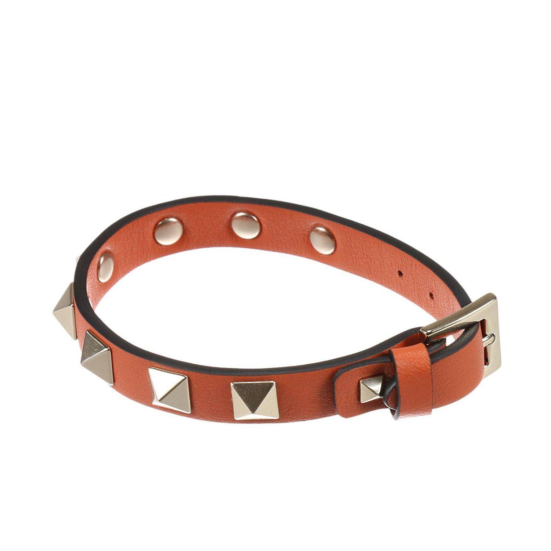 Jewel Rockstud Bracelet With Metal Studs