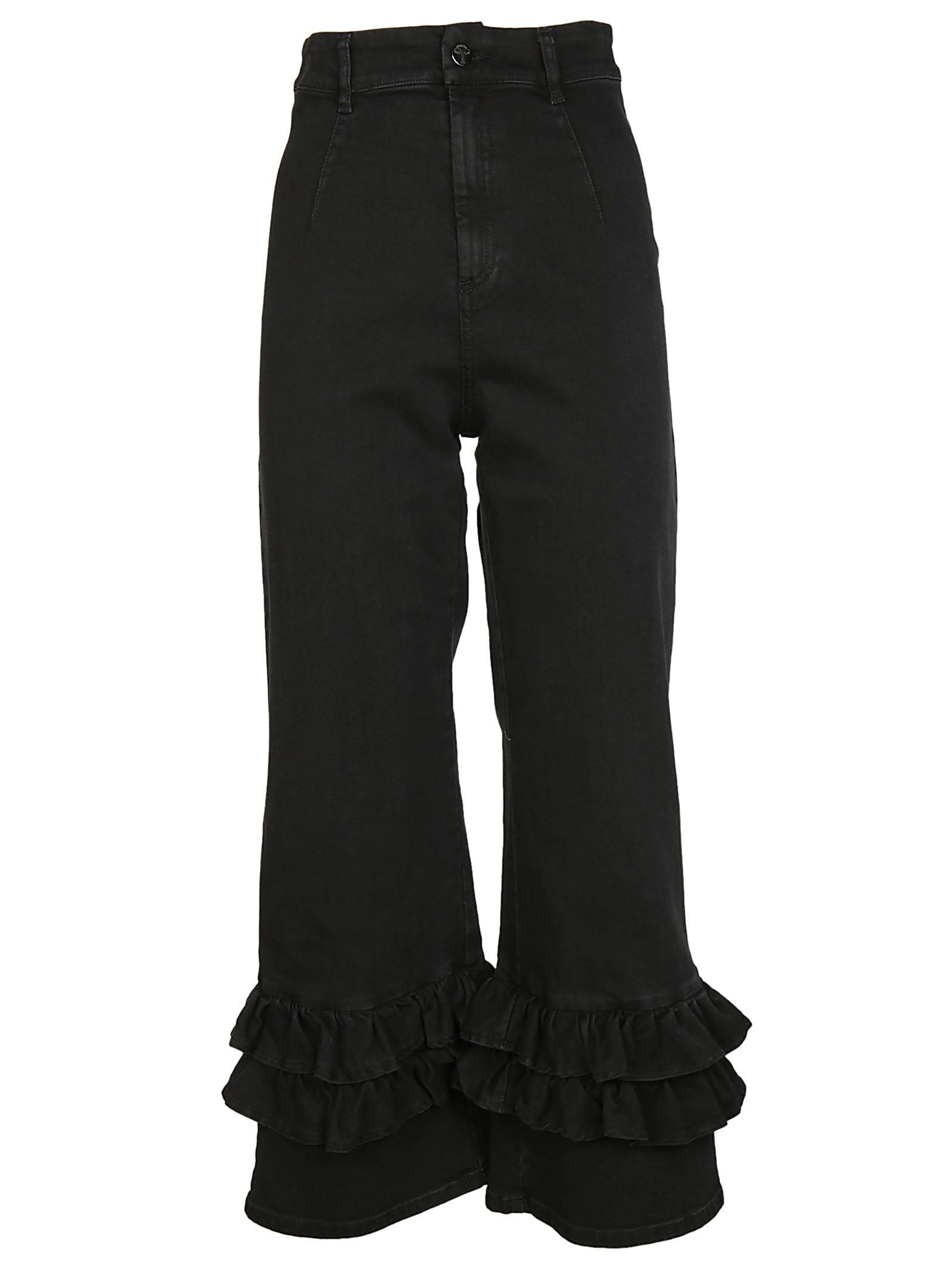Vivetta Ruffle Cropped Jeans