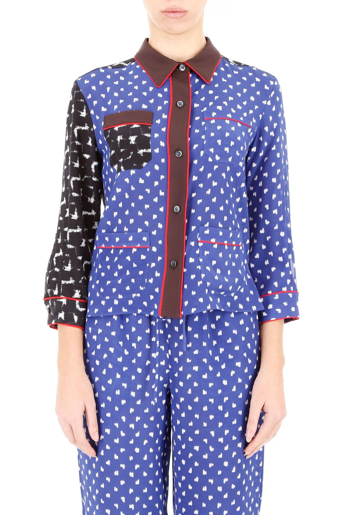 multi panelled pyjama shirt