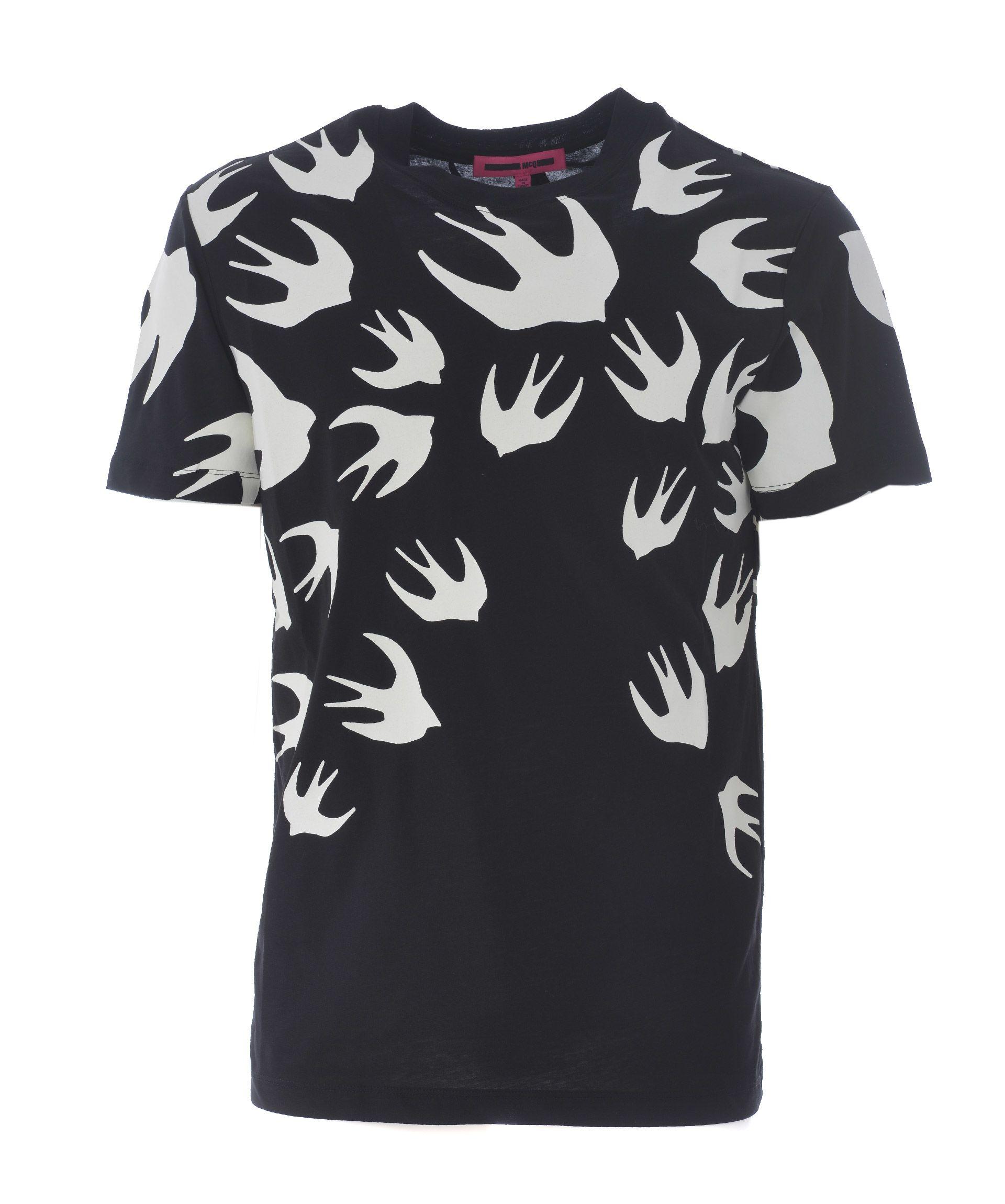 Mcq Alexander Mcqueen Birds Print T-shirt
